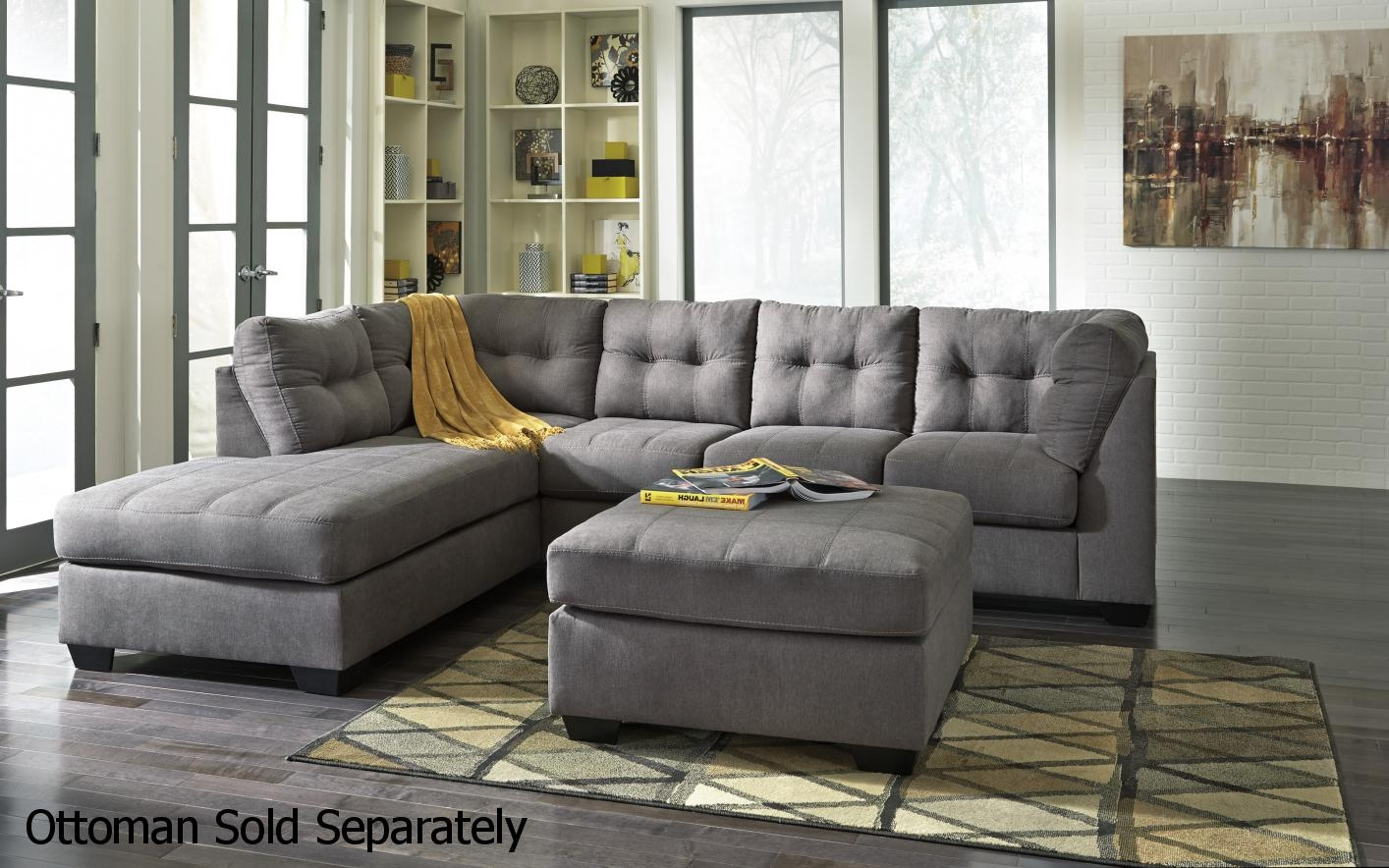 Ashley 4520016 4520067 Grey Fabric Sectional Sofa Steal A Sofa Inside Fabric Sectional Sofa (Image 1 of 15)