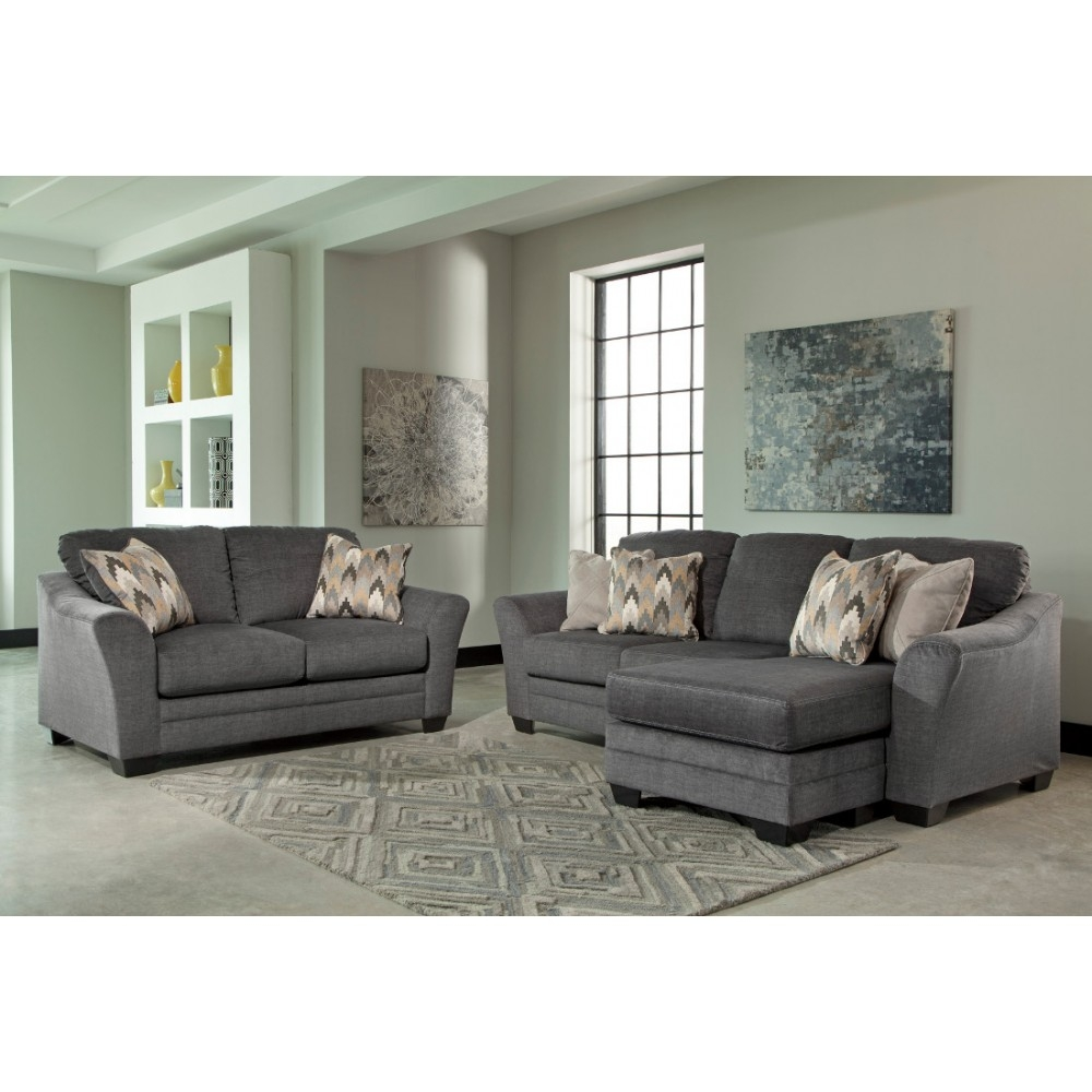 Ashley Furniture Braxlin Livingroom Set In Charcoal Local For Ashley Furniture Gray Sofa (Image 3 of 15)