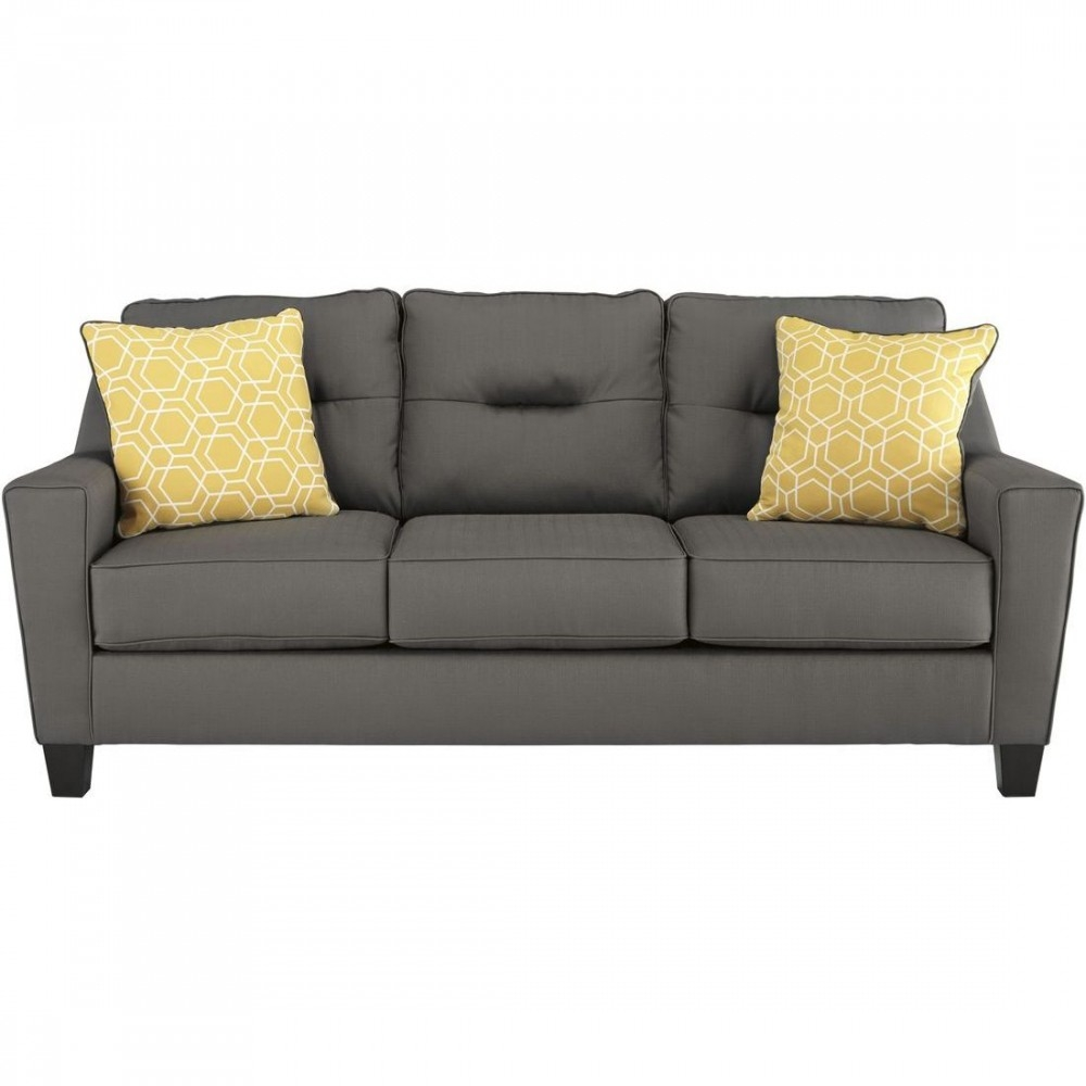 Ashley Furniture Forsan Nuvella Sofa In Gray With Regard To Ashley Furniture Gray Sofa (Image 4 of 15)