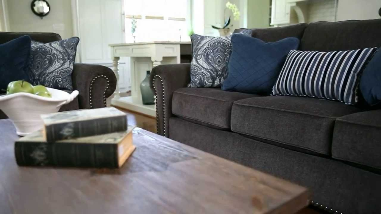 Ashley Furniture Homestore Navasota Sofa Youtube Within Ashley Furniture Gray Sofa (Image 5 of 15)