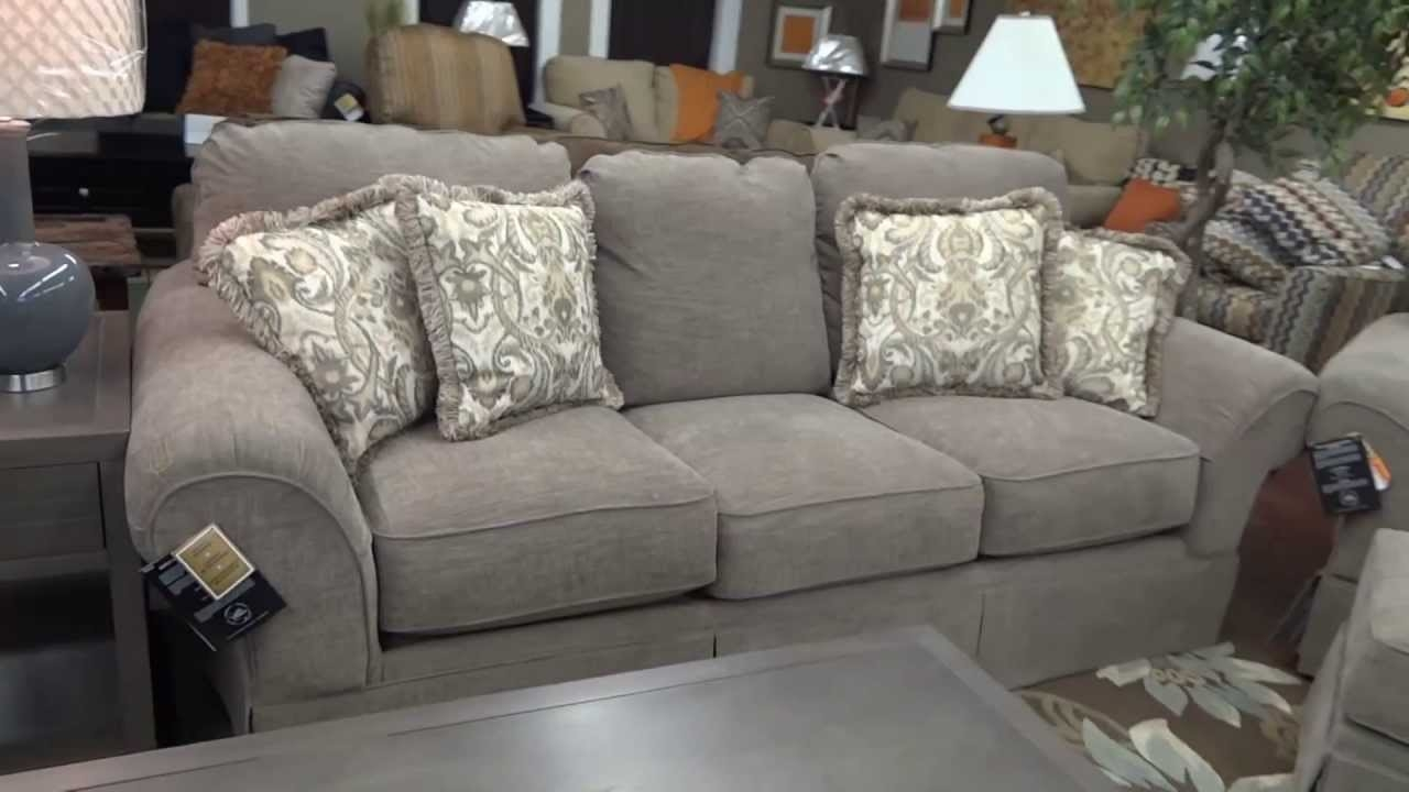 Ashley Furniture Sonnenora Sofa Chair Ottoman 388 Review Youtube With Ashley Furniture Gray Sofa (Image 7 of 15)