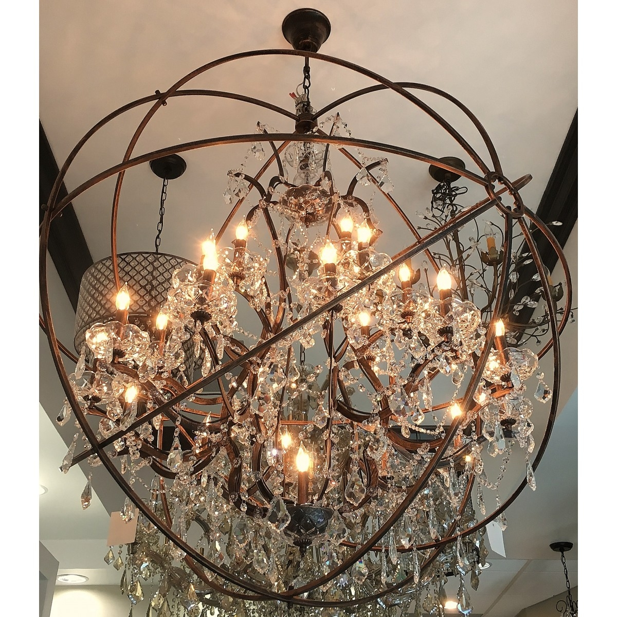 Aspasia Of Athens Ii 25 Lights Solaris Crystals Oversized With Regard To Oversized Chandeliers (View 12 of 15)