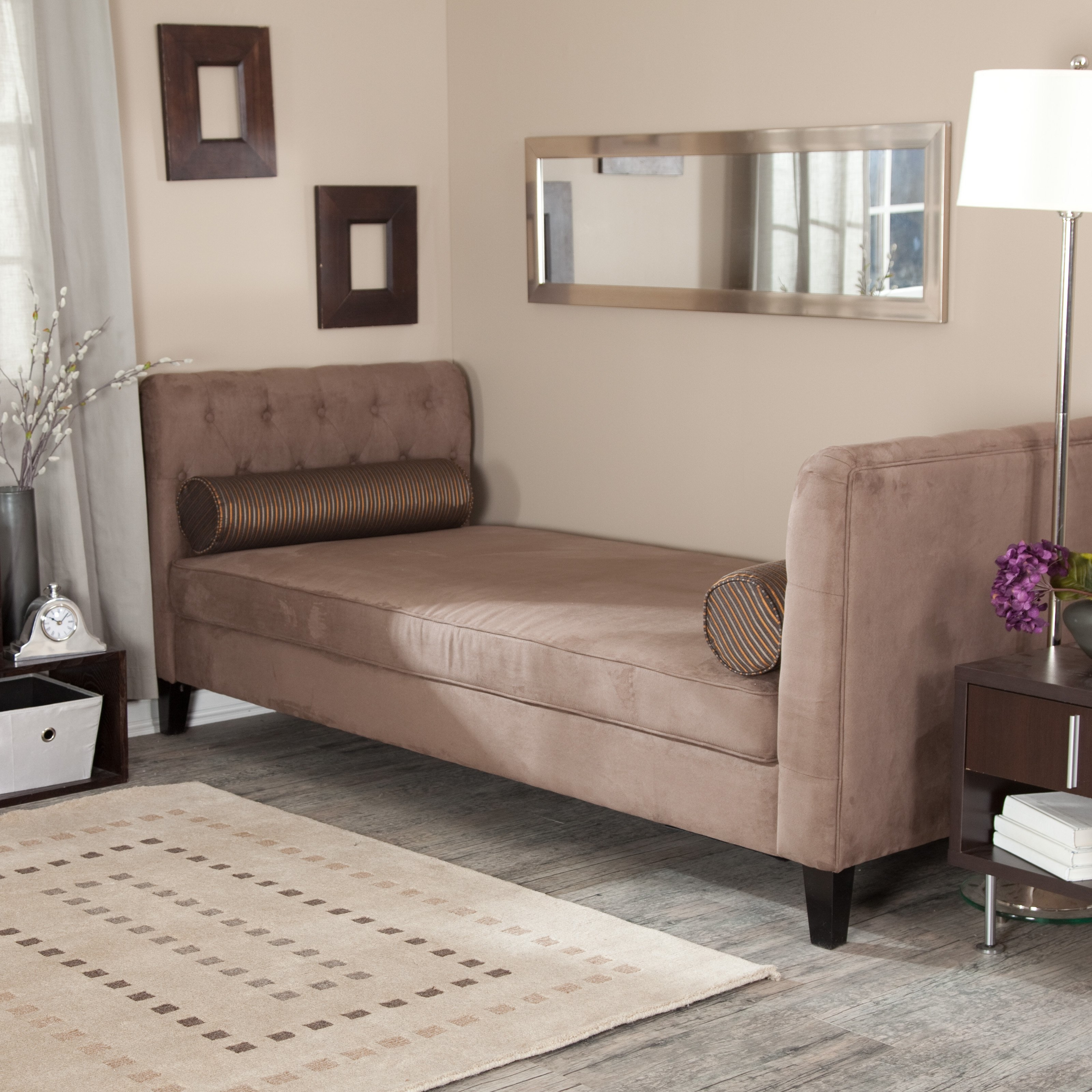 Astonishing Backless Daybed With Trundle Images Inspiration With Regard To Backless Chaise Sofa (Image 1 of 15)