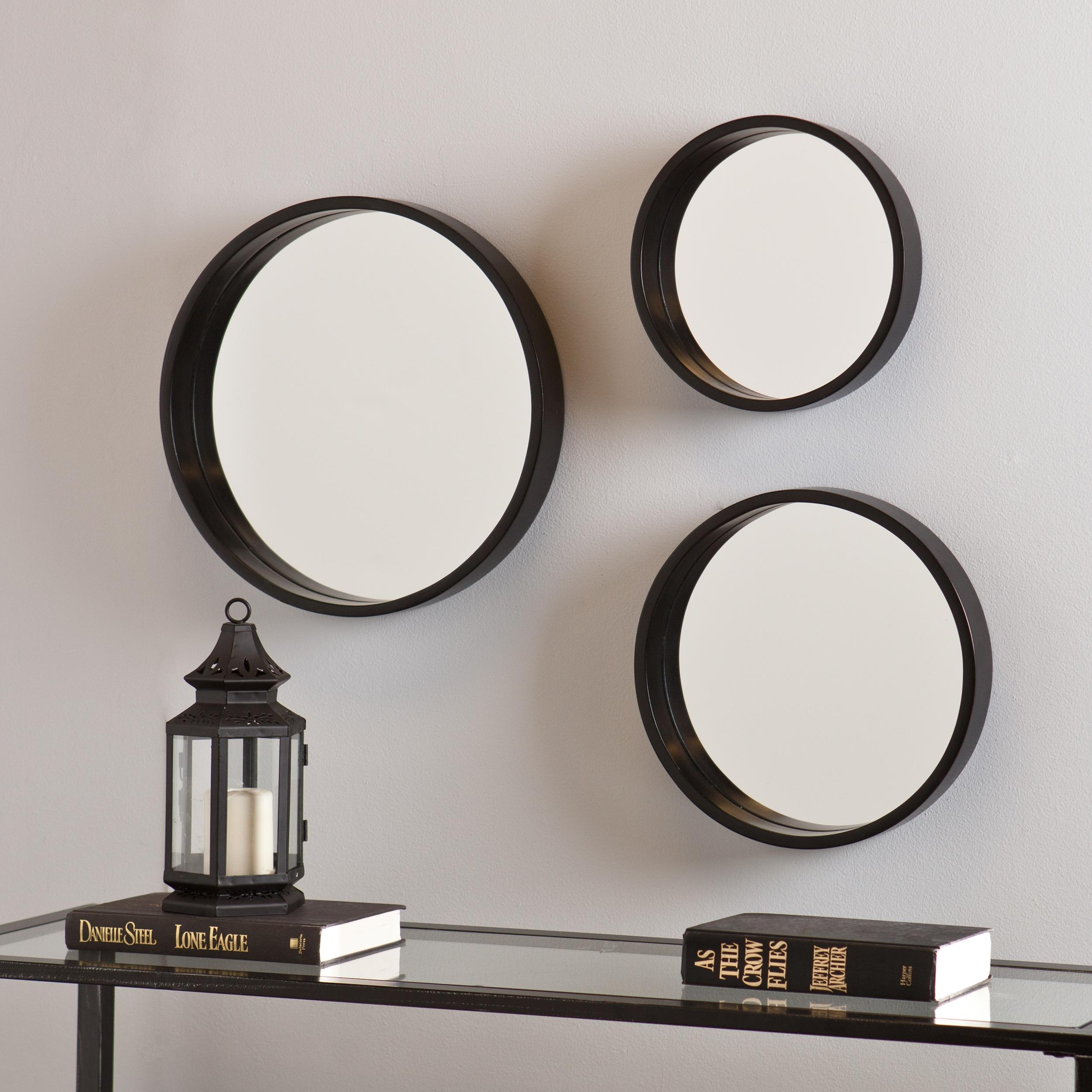 Astonishing Decoration Set Of 3 Wall Mirrors Interesting Better Throughout Interesting Wall Mirrors (Image 2 of 15)