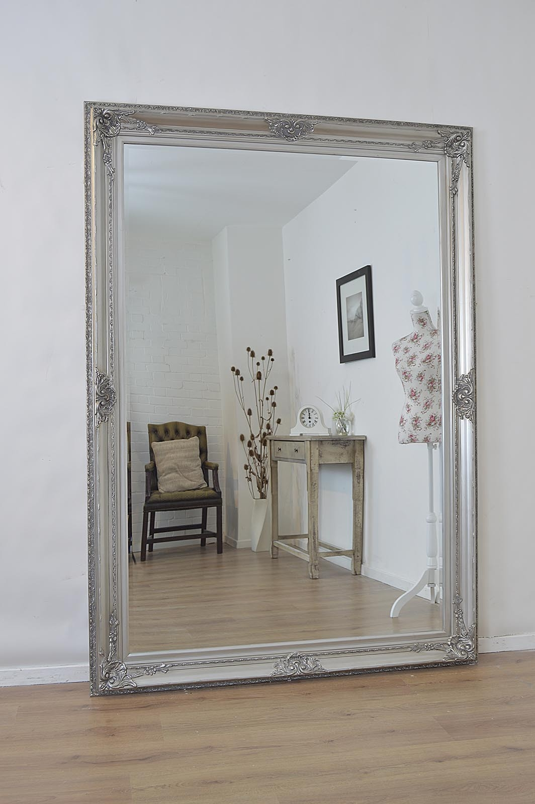Astonishing Design Big Wall Mirror Innovation Large Silver Antique Regarding Large Silver Vintage Mirror (Image 2 of 15)