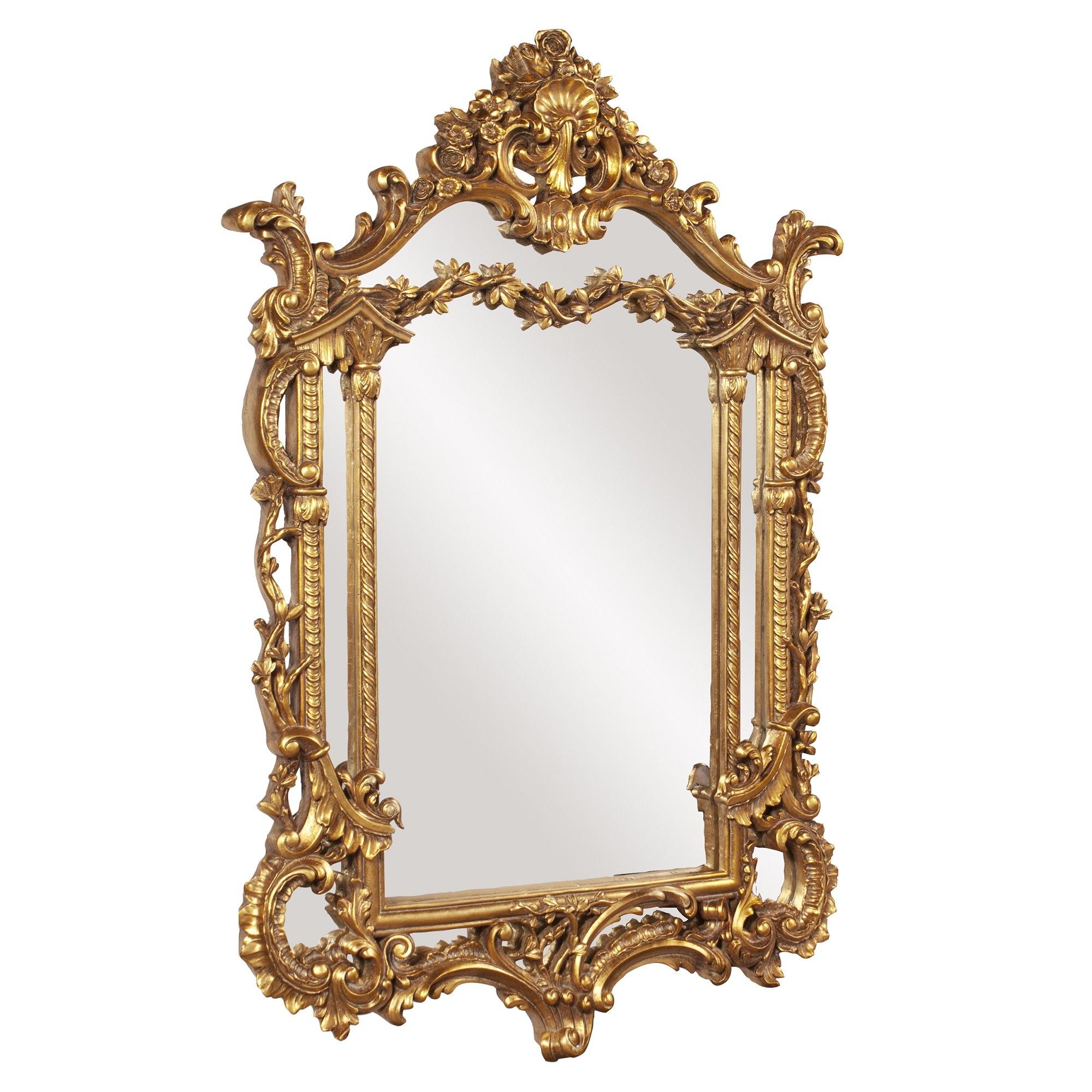 Astoria Grand Antique Gold Vertical Baroque Mirror Reviews Wayfair For Baroque Mirror (Image 1 of 15)