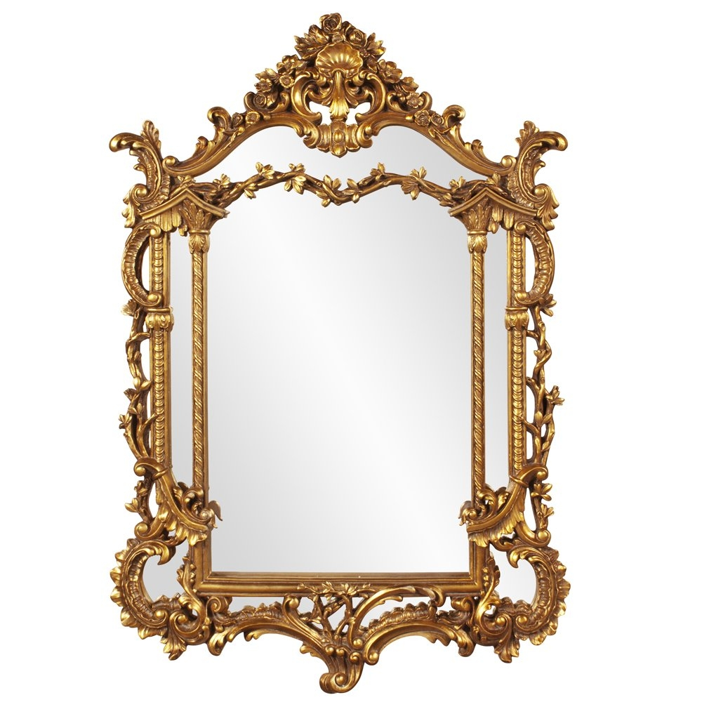 Astoria Grand Antique Gold Vertical Baroque Mirror Reviews Wayfair In Baroque Gold Mirror (Image 3 of 15)