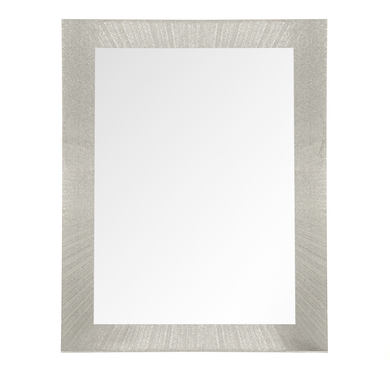 Athena Silver Glitter Mirror With Silver Glitter Mirror (Image 1 of 15)