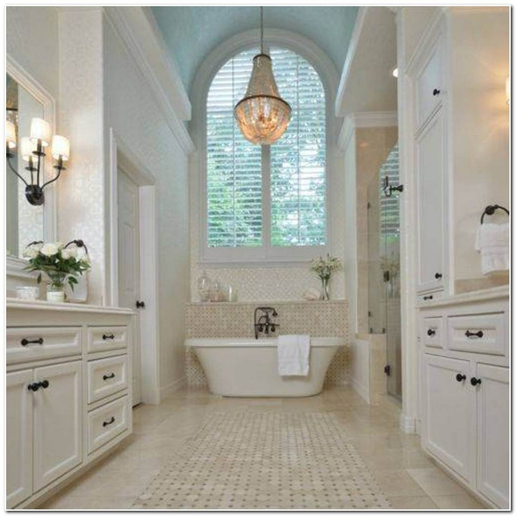 Attractive Bathroom Crystal Chandelier Amazing Luxury Bathroom Within Chandeliers For Bathrooms (Image 7 of 15)