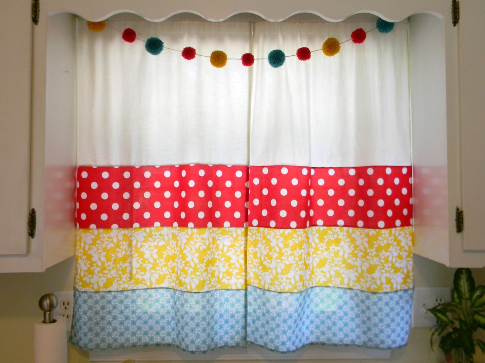 Attractive Colorful Kitchen Curtains With Modern Curtain Panel Inside Hand Made Curtains (Image 2 of 15)