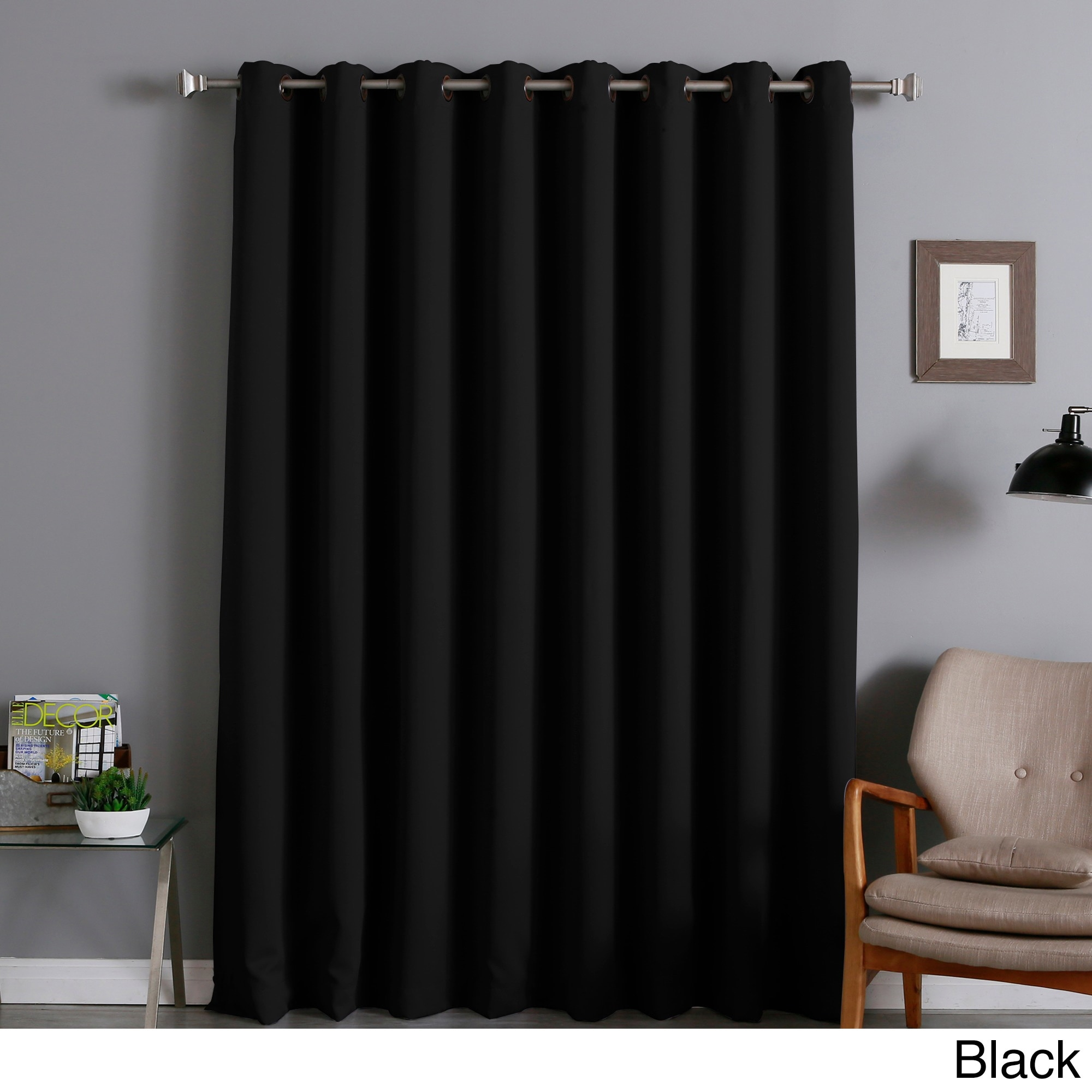 Aurora Home Extra Wide Thermal 96 Inch Blackout Curtain Panel Pertaining To Extra Wide Thermal Curtains (Image 4 of 15)