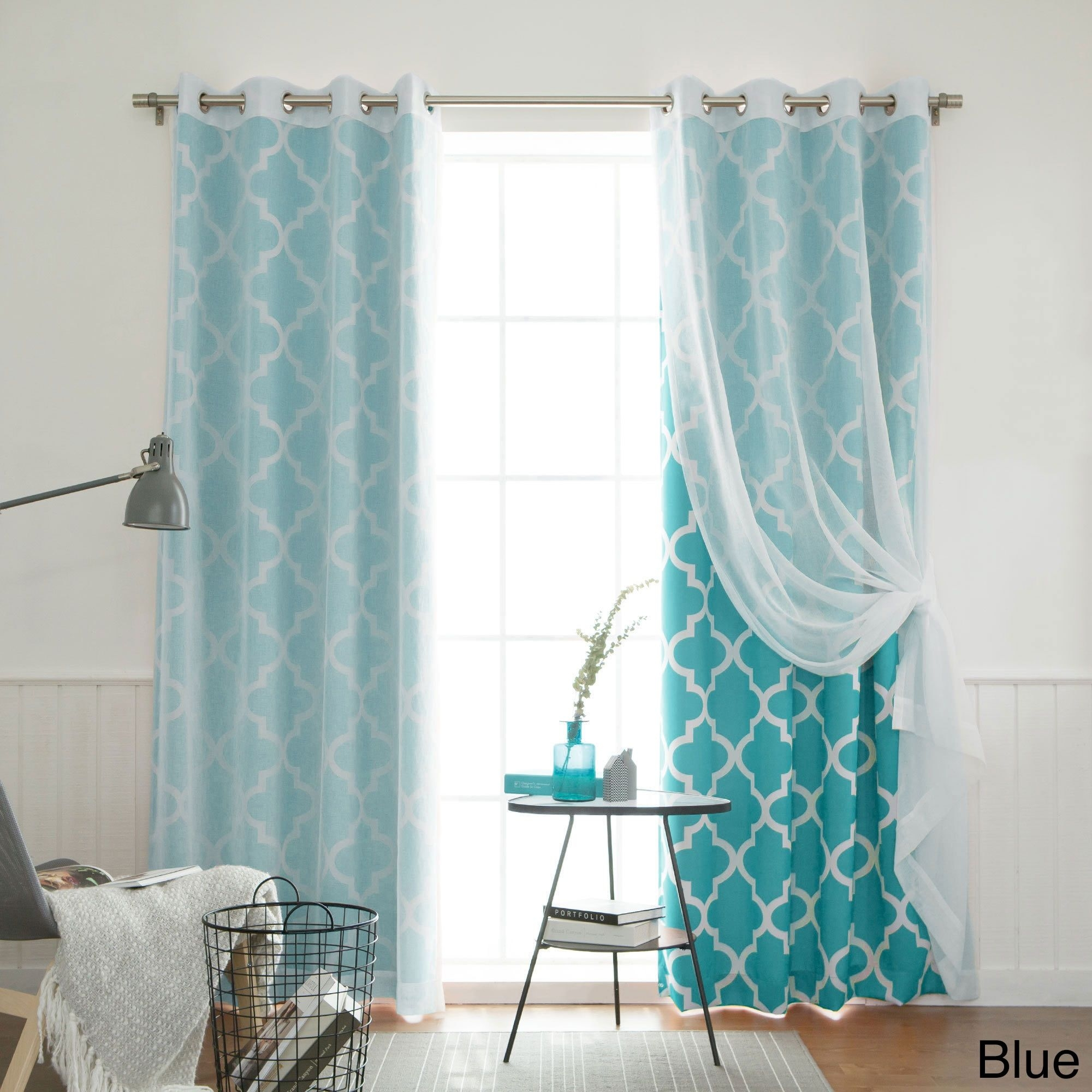 Aurora Home Mix And Match Curtains Muji Sheer Moroccan 84 Inch 4 Throughout Morrocan Style Curtains (View 15 of 15)
