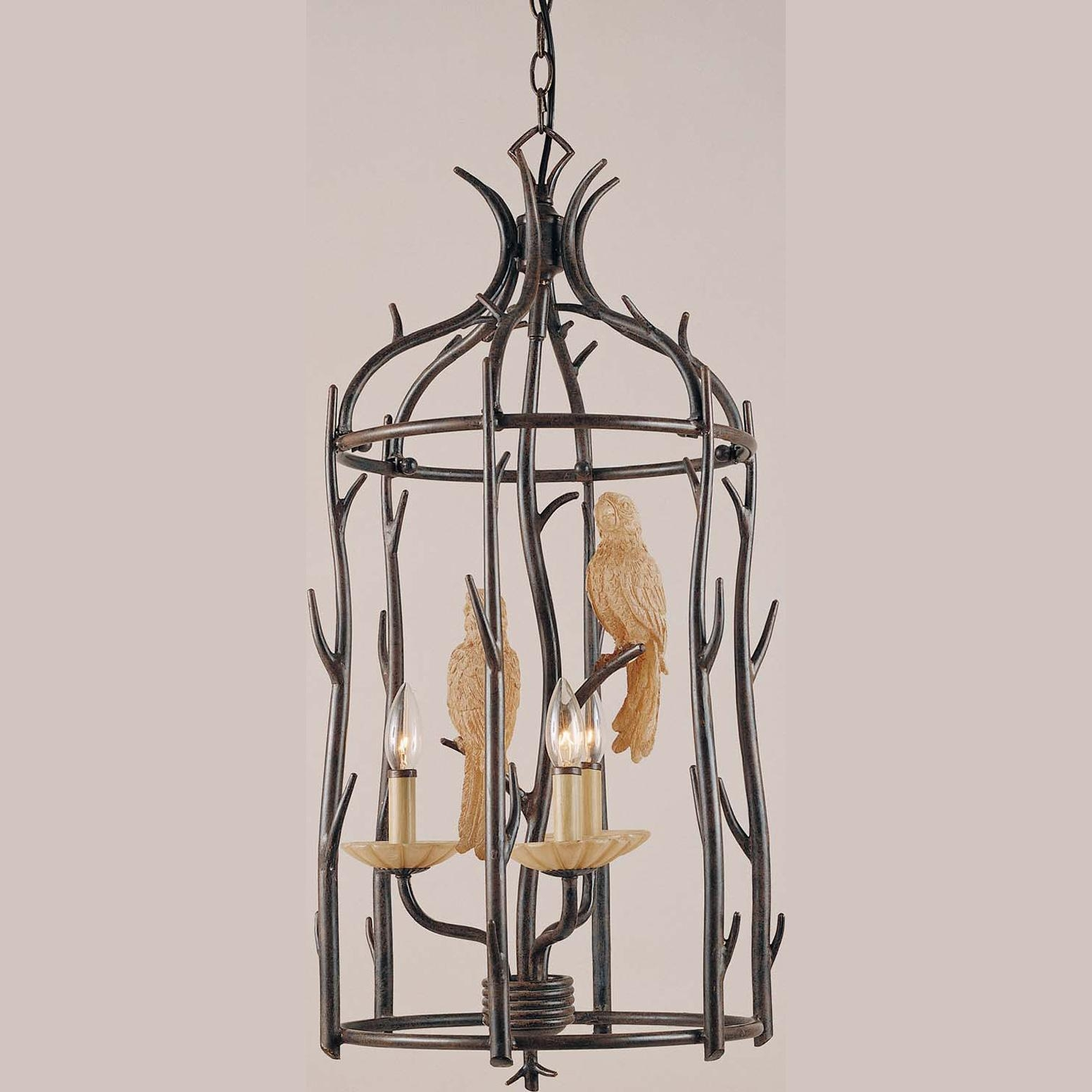 Aviary 3 Light Aged Driftwood Chandelier Free Shipping Today Intended For Lucinda Branch Chandelier (Image 3 of 15)