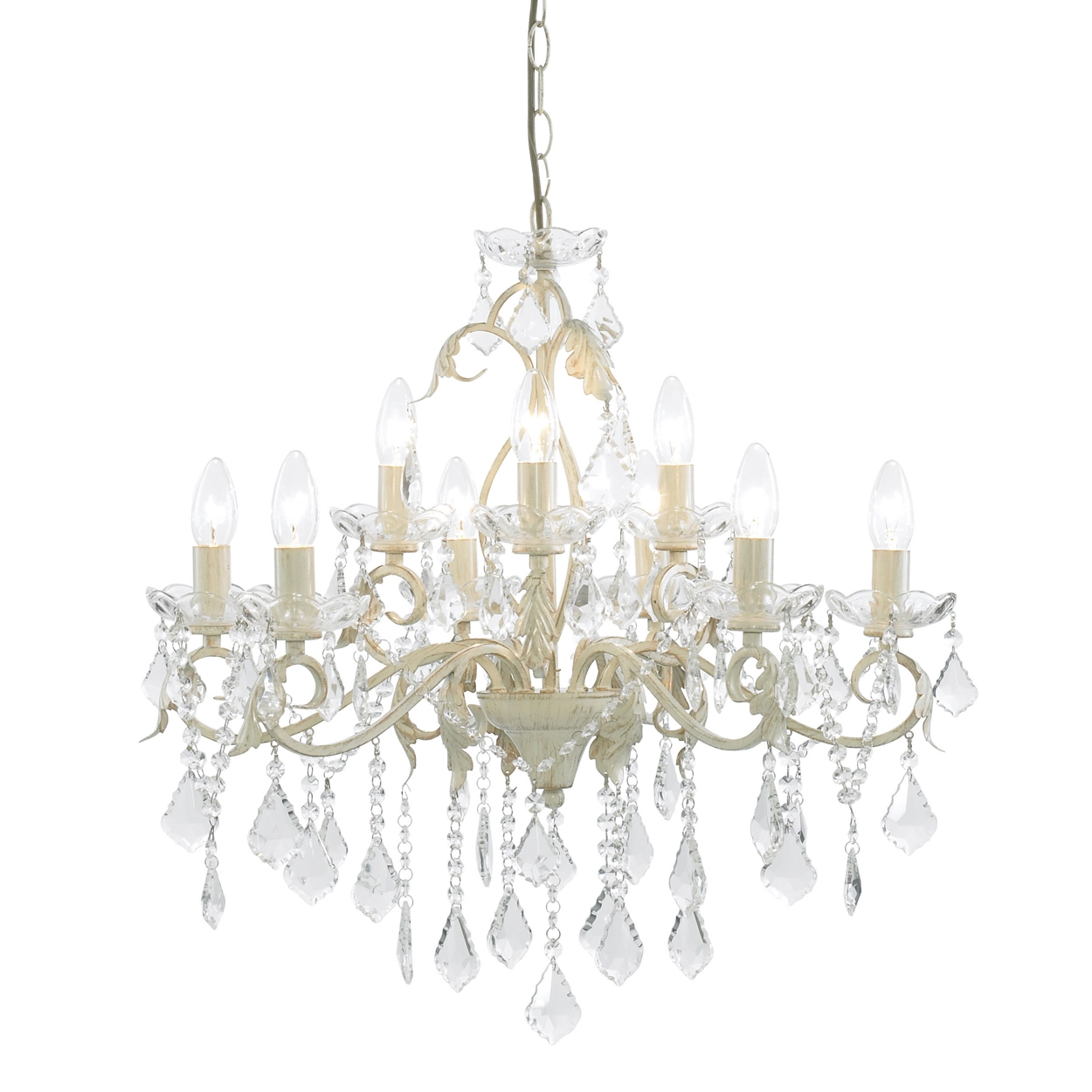 Featured Image of Cream Crystal Chandelier