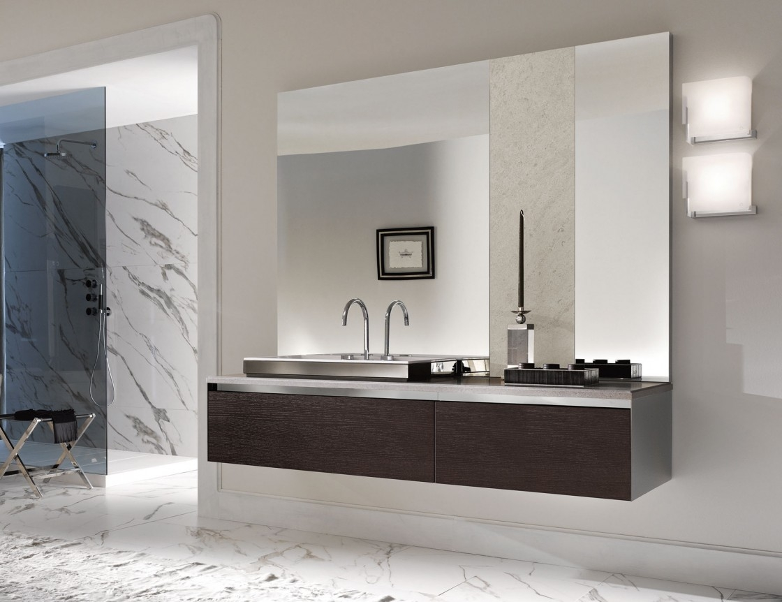 Awesome Frameless Bathroom Mirrors Gallery Longevityincco Within Frameless Large Wall Mirror (Image 1 of 15)