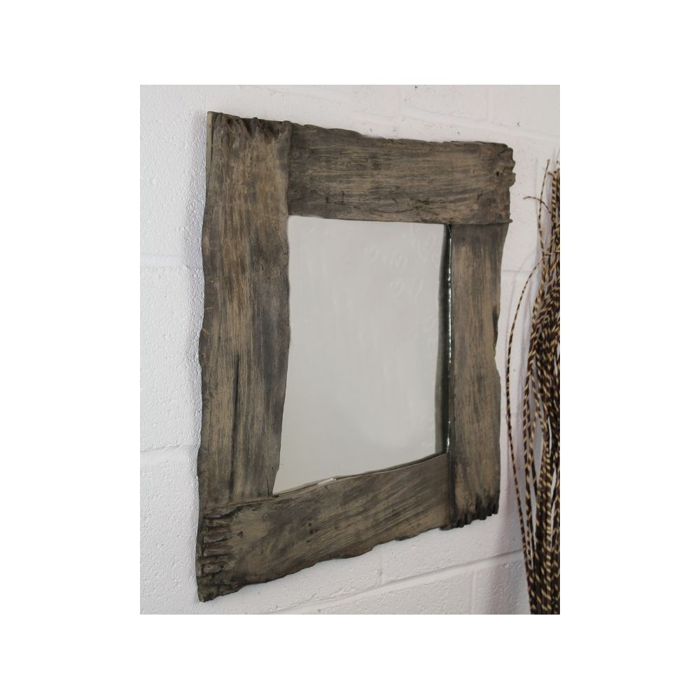 Awesome Ornamental Mirrors 5 80cm Fairtrade Solid Wooden Rustic Inside Ornamental Mirrors (Image 2 of 15)