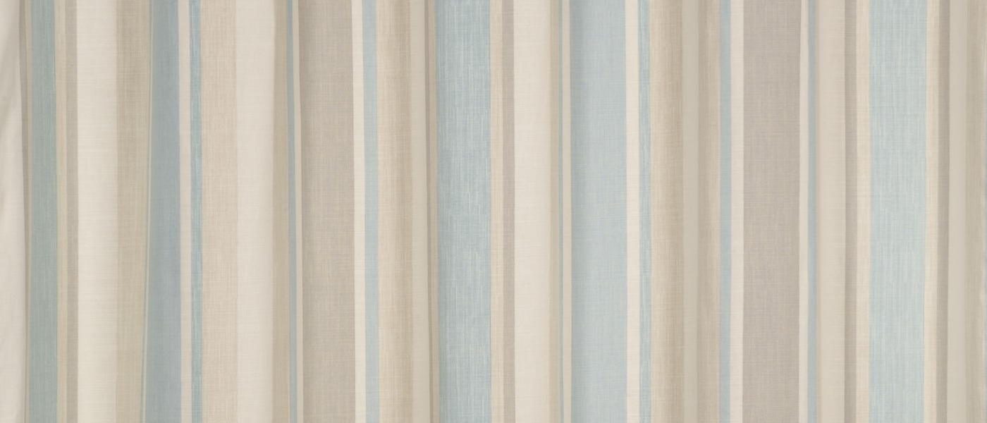 Awning Stripe Duck Egg Eyelet Ready Made Curtains At Laura Ashley Pertaining To Duck Egg Blue Striped Curtains (View 5 of 15)