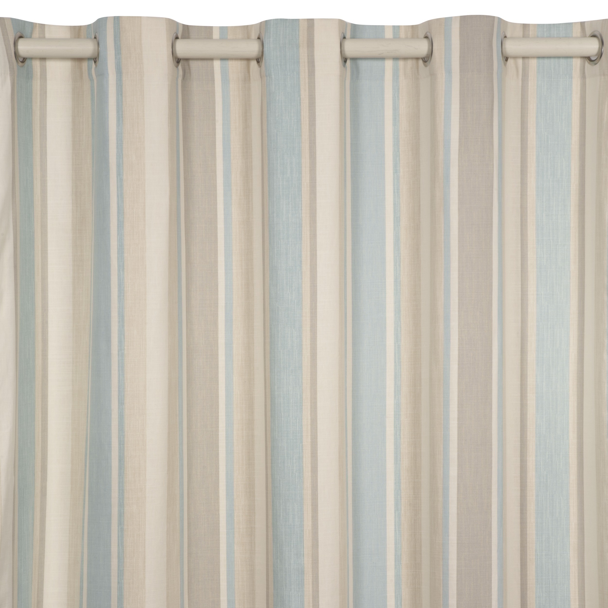 Awning Stripe Duck Egg Eyelet Ready Made Curtains At Laura Ashley With Duck Egg Blue Striped Curtains (Image 3 of 15)