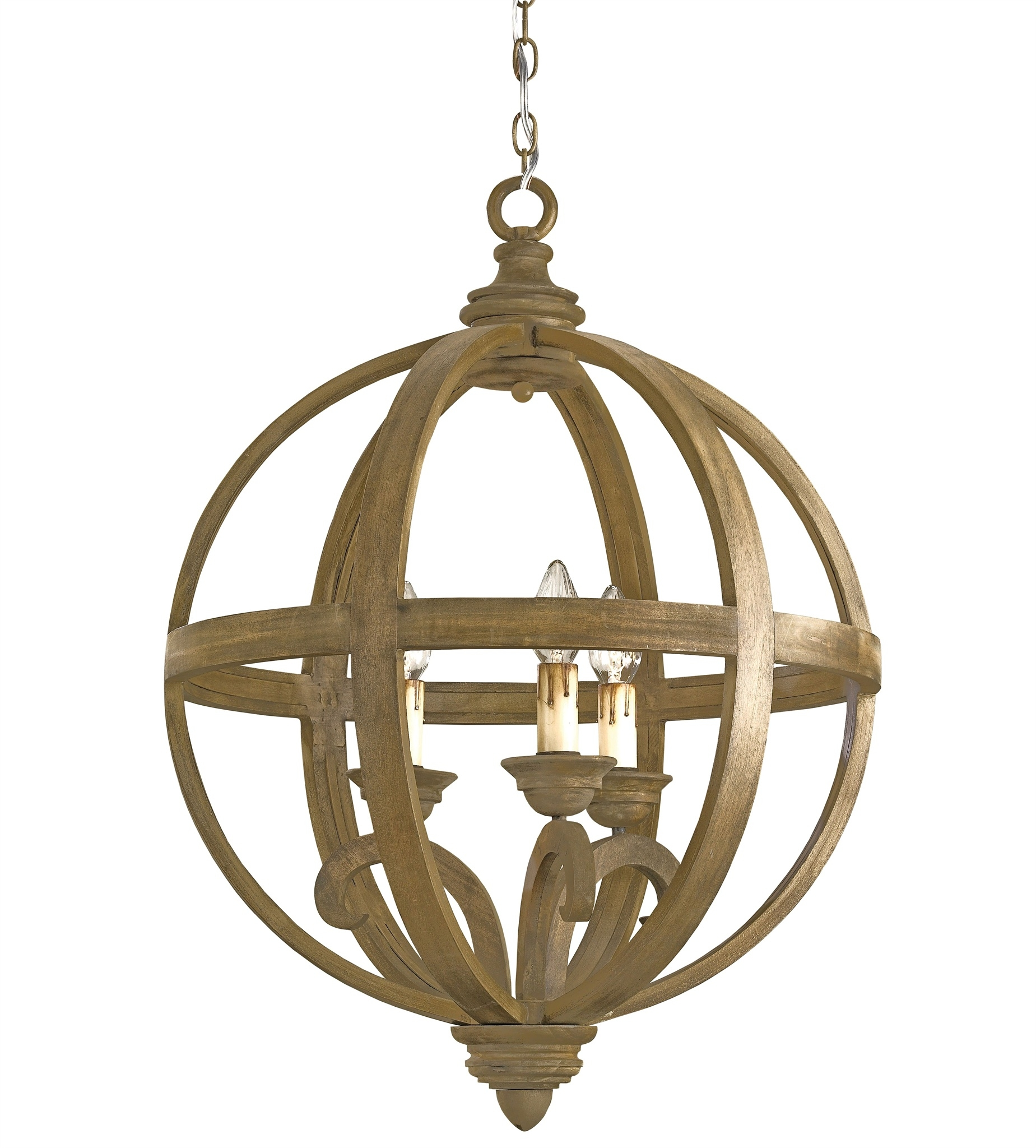 Axel Orb Chandelier Lighting Currey And Company Throughout Orb Chandelier (Image 1 of 15)