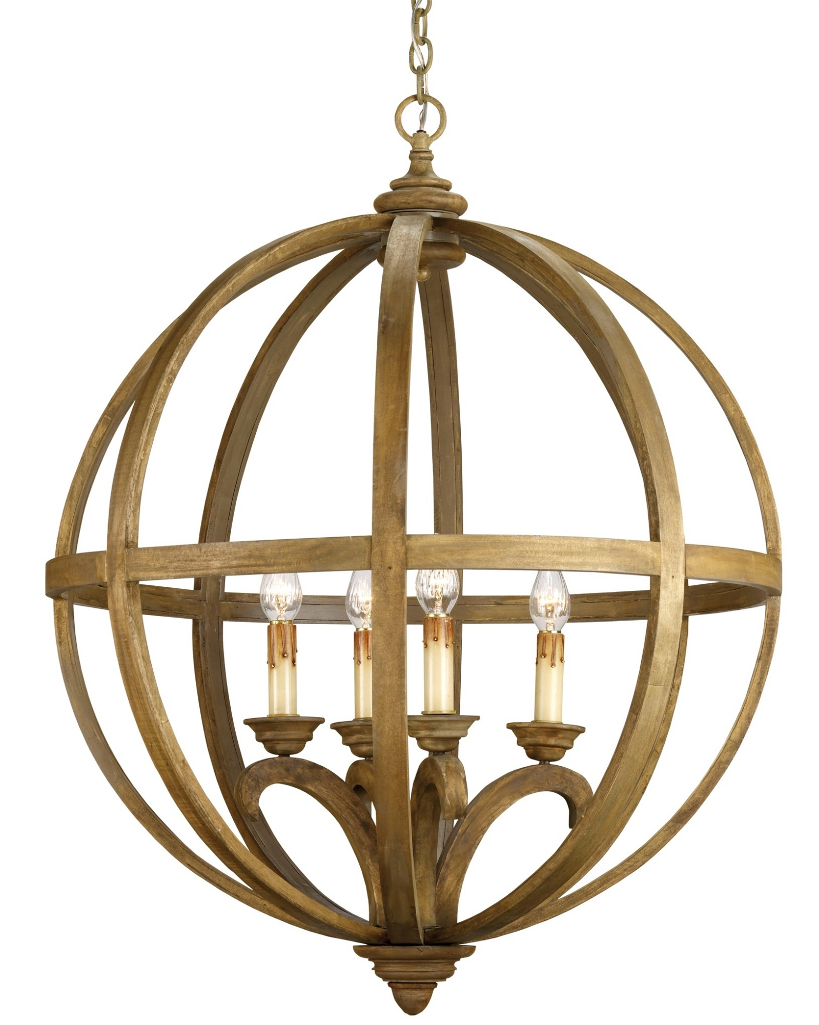 Axel Orb Chandelier Lighting Currey And Company With Regard To Orb Chandelier (Image 2 of 15)