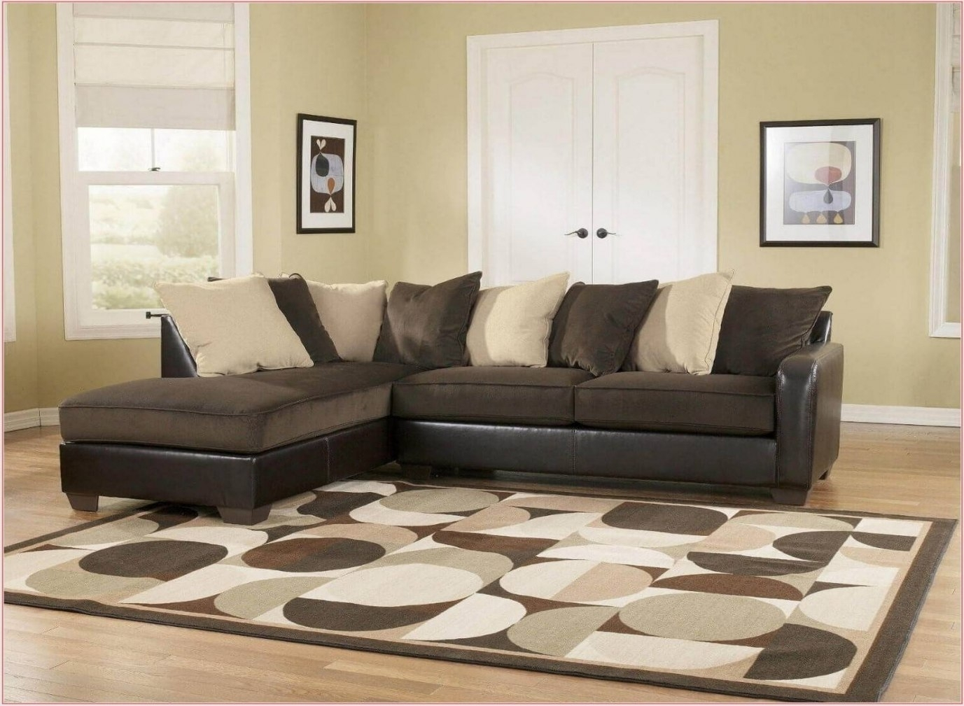 Backless Sectional Sofa Book Of Stefanie Backless Sectional Intended For Backless Sectional Sofa (Image 2 of 15)