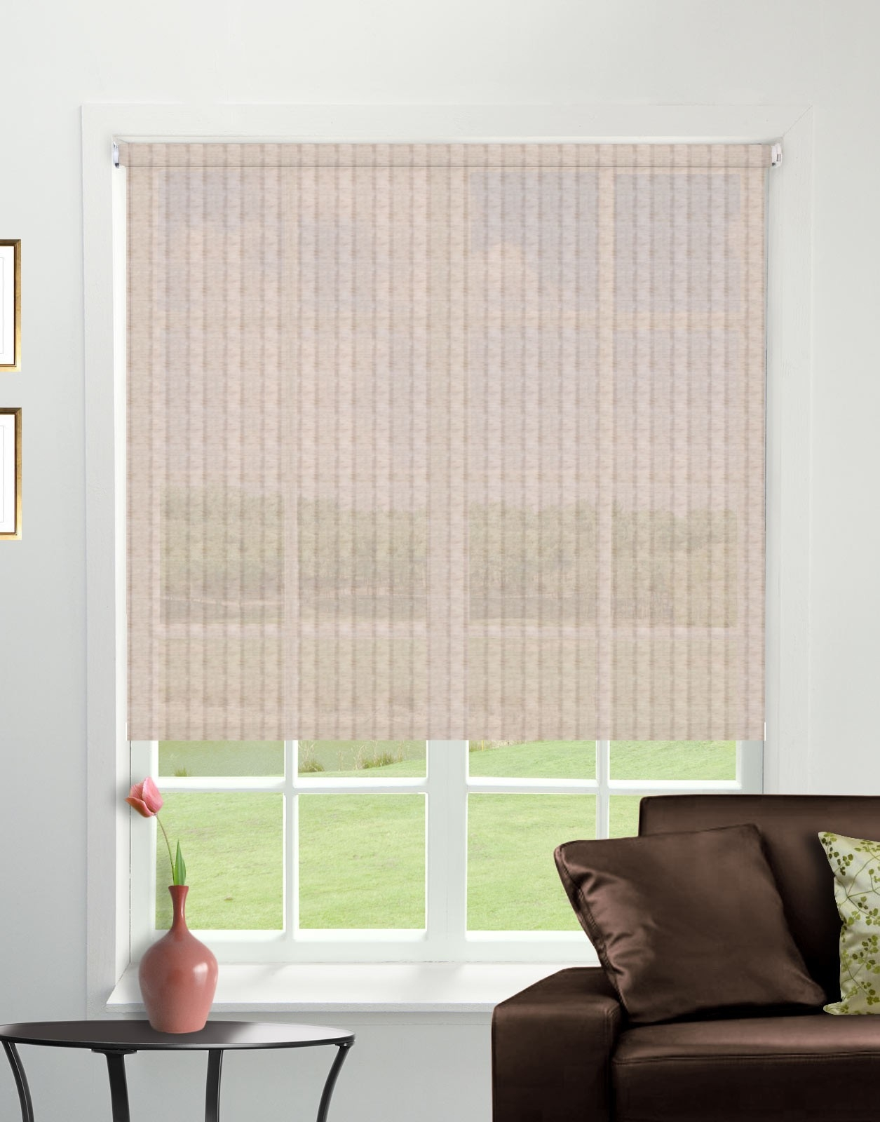 Bali Linen Roller Blind Direct Order Blinds Uk Pertaining To Linen Roller Blind (Image 3 of 15)