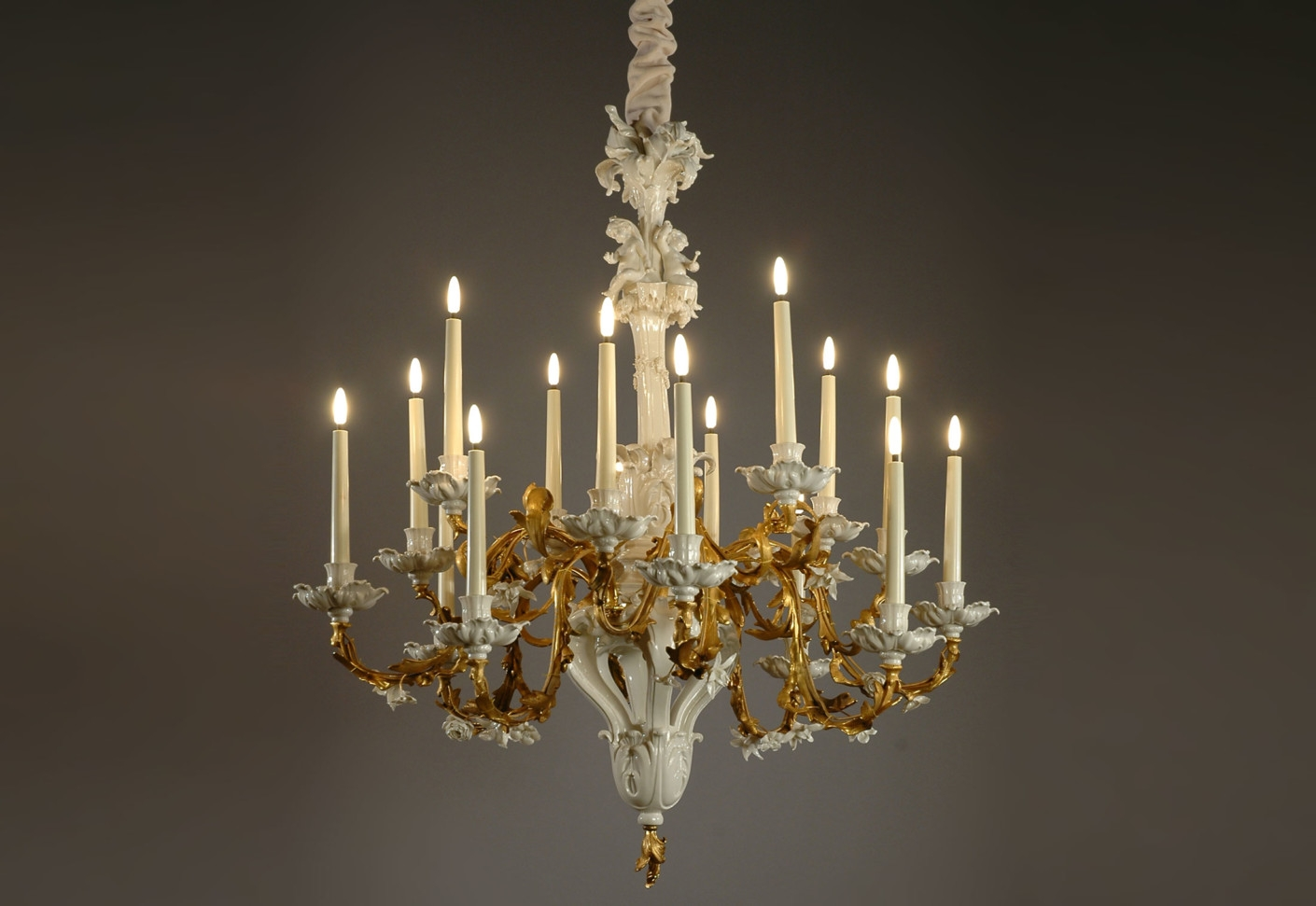 Baroque Chandelier Porzellan Manufaktur Nymphenburg Stylepark With Baroque Chandelier (Image 5 of 15)