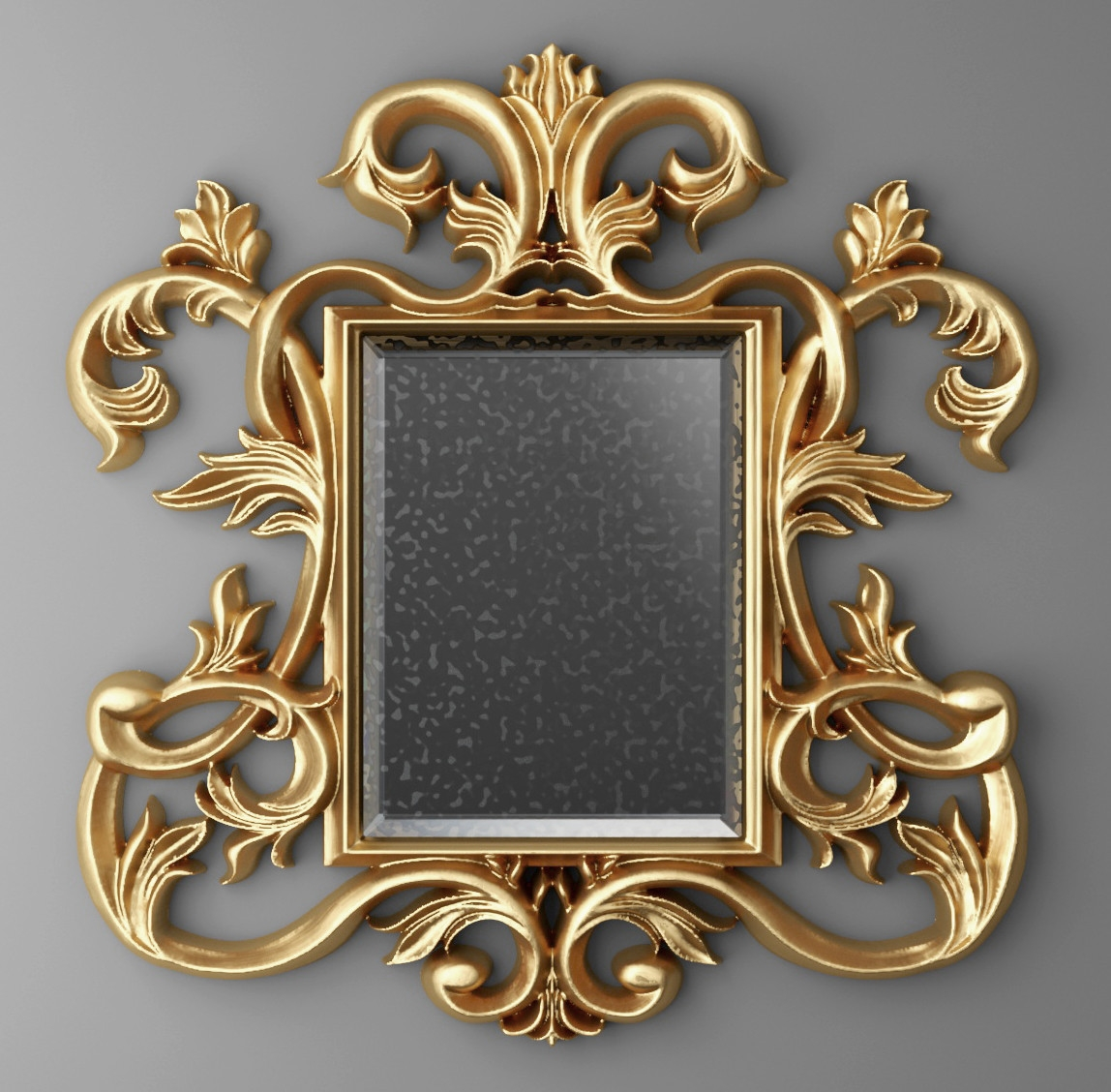 Baroque Frame Mirror Model Pertaining To Baroque Mirror Frame (Image 4 of 15)