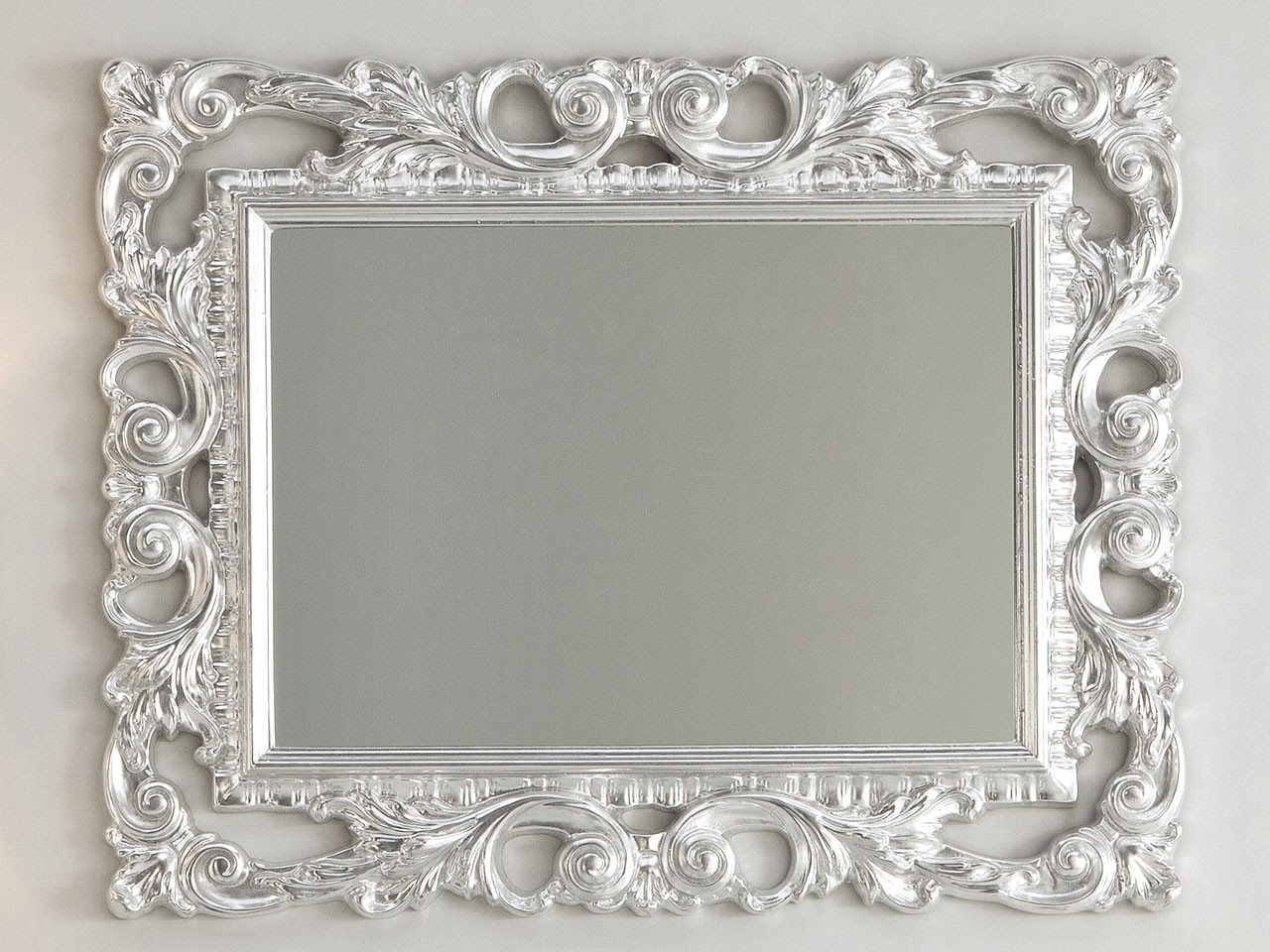 Baroque Mirror 94×75 Silver Leaf Iperceramica Within Silver Baroque Mirror (Image 2 of 15)