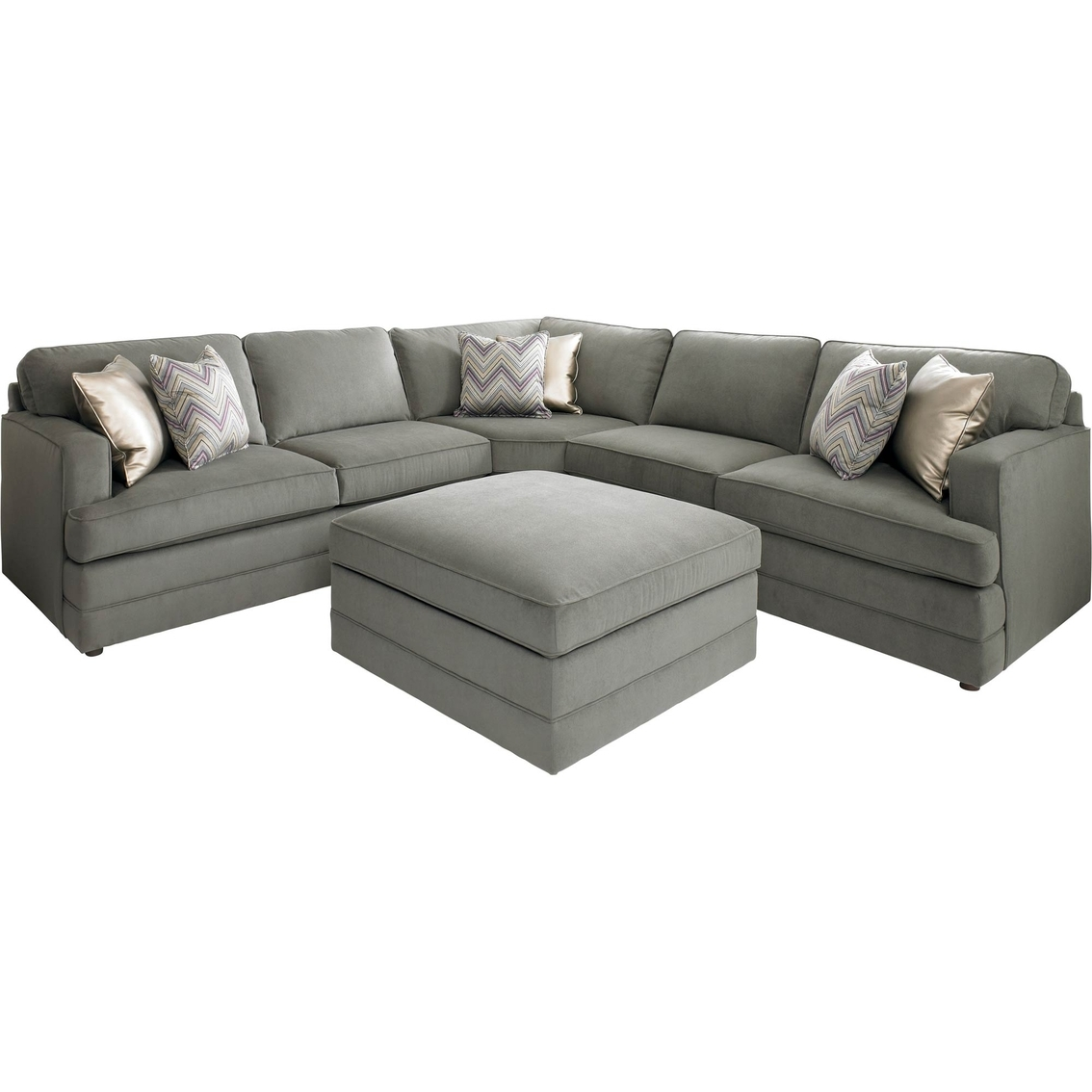 Bassett Dalton L Shaped Sectional Sofa With Ottoman Base House Regarding Bassett Sectional Sofa (Image 4 of 15)