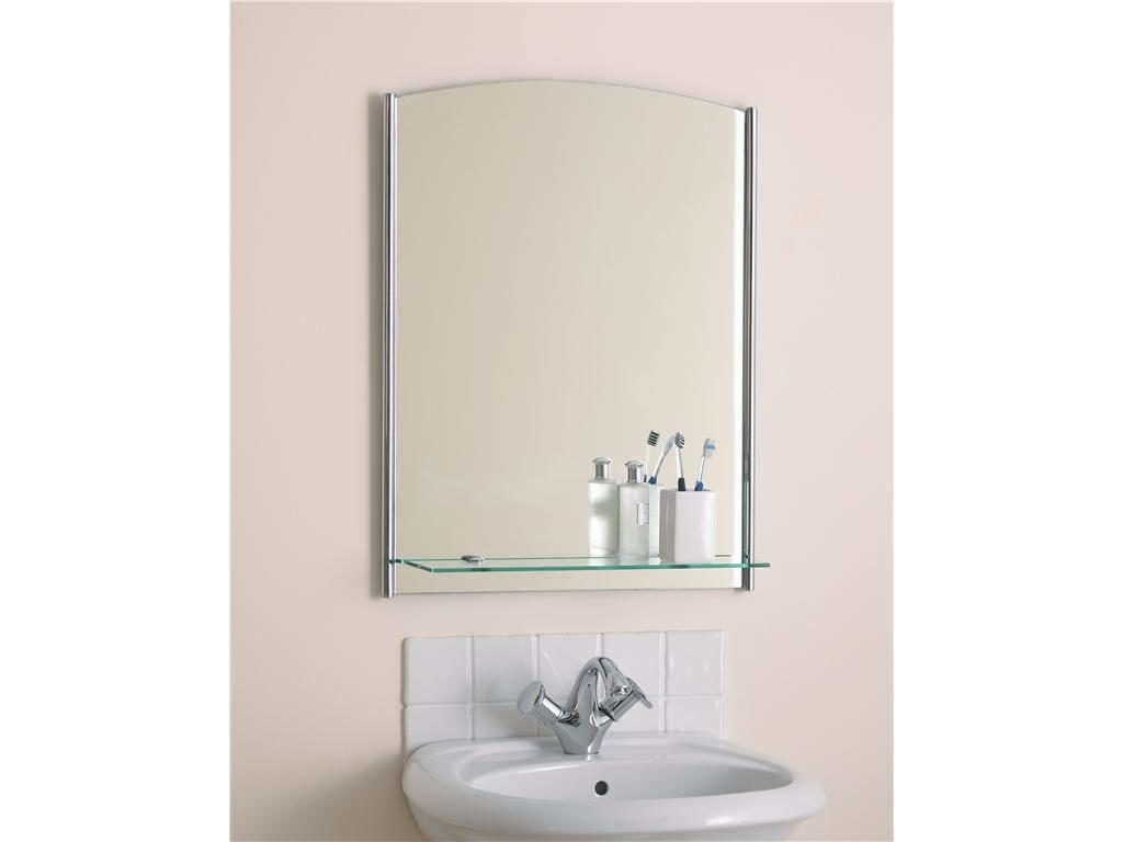 Bathroom 31 Wonderful Square Frameless Wall Mirror With Small Within Large Frameless Mirrors (Image 3 of 15)