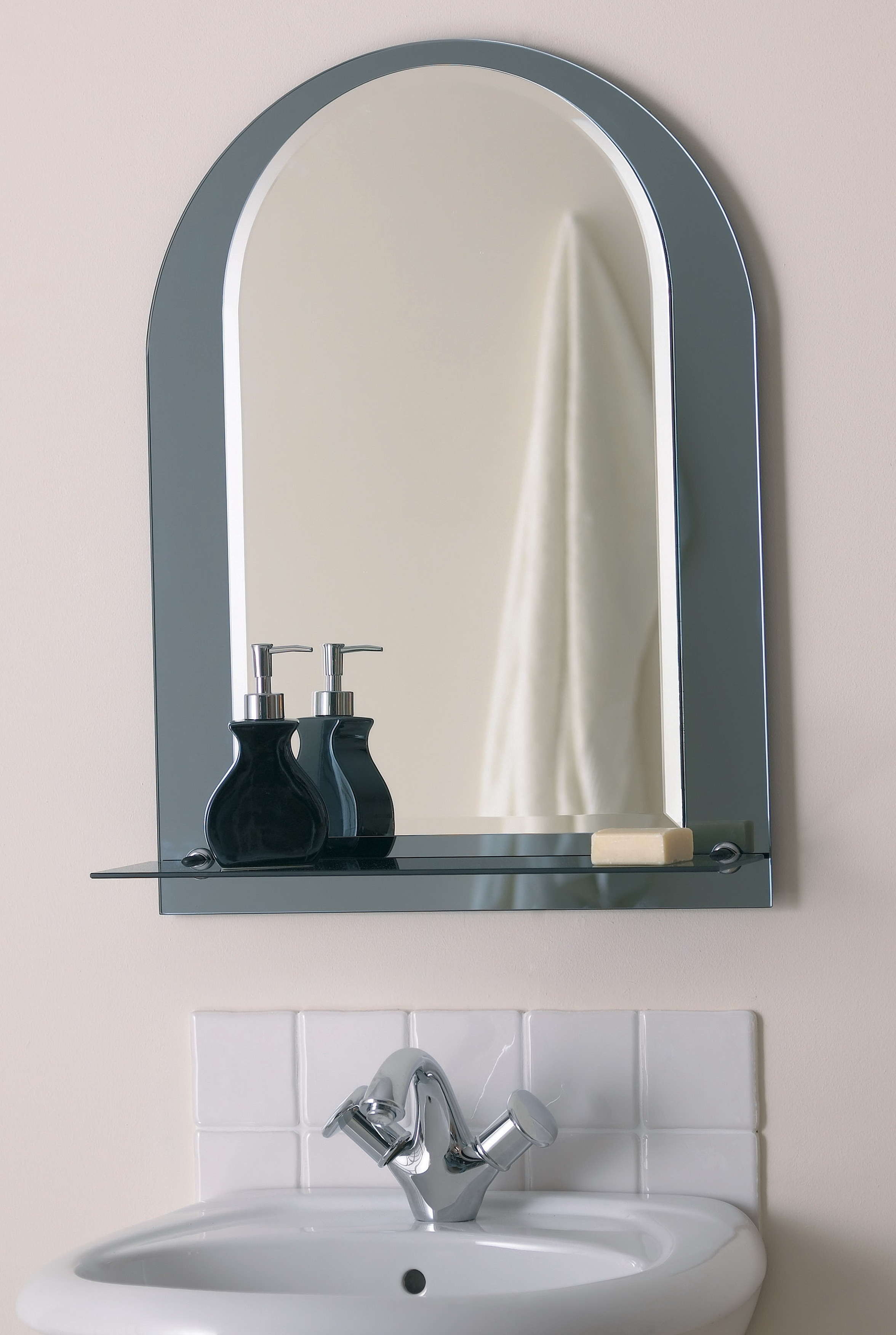 Bathroom Arched Lowes Bathroom Mirror With Shelf Attached For In Arched Mirrors Bathroom (Image 6 of 15)