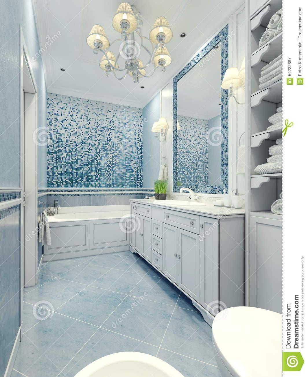 Bathroom Art Deco Style Stock Photo Image 59222697 Within Art Deco Style Bathroom Mirrors (View 7 of 15)