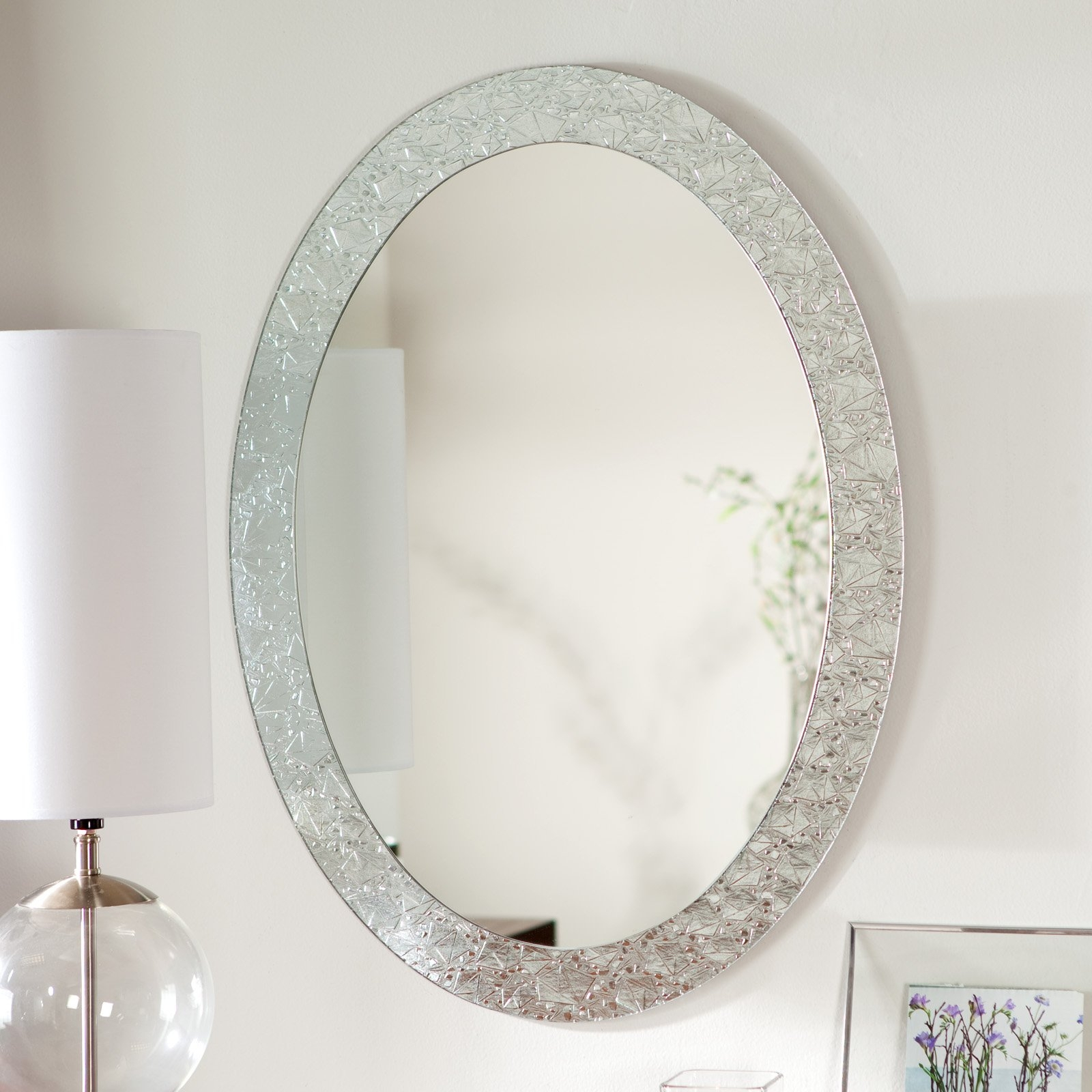 Bathroom Bronze Framed Mirror Oval Mirrors For Bathroom Oval With Regard To Large Oval Wall Mirror (Image 4 of 14)