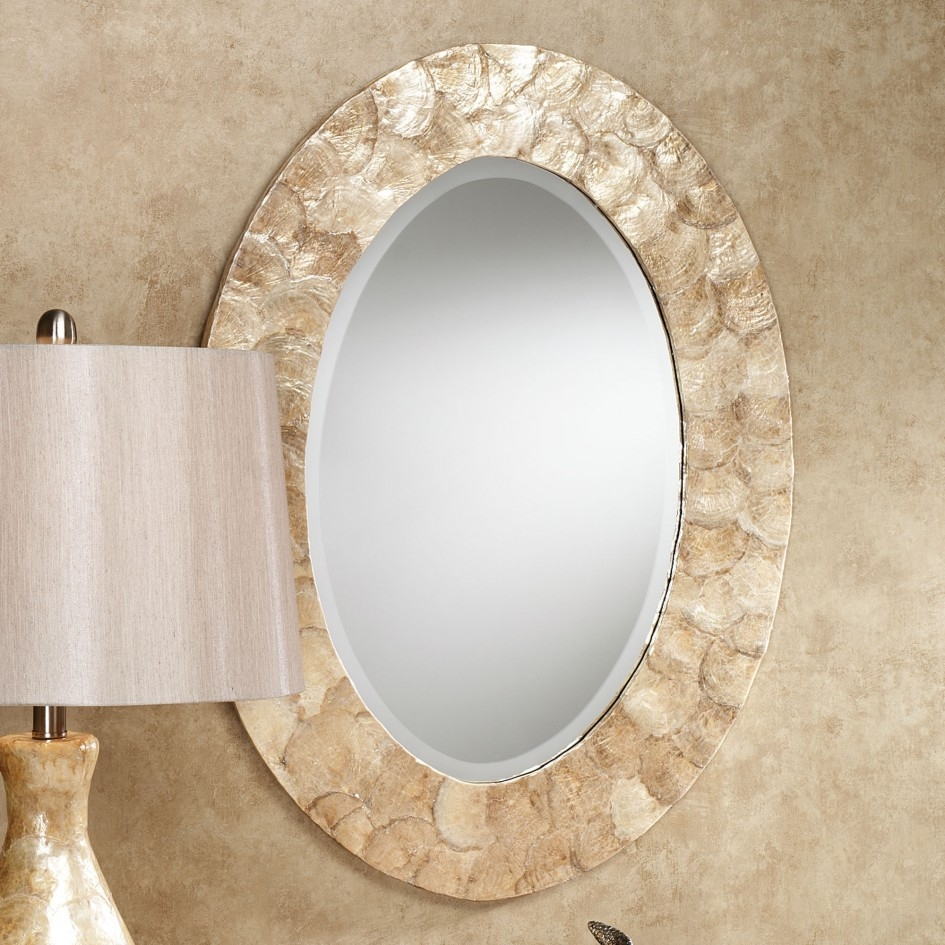 Bathroom Bronze Framed Mirror Oval Mirrors For Bathroom Oval Within Cream Wall Mirror (Image 3 of 15)