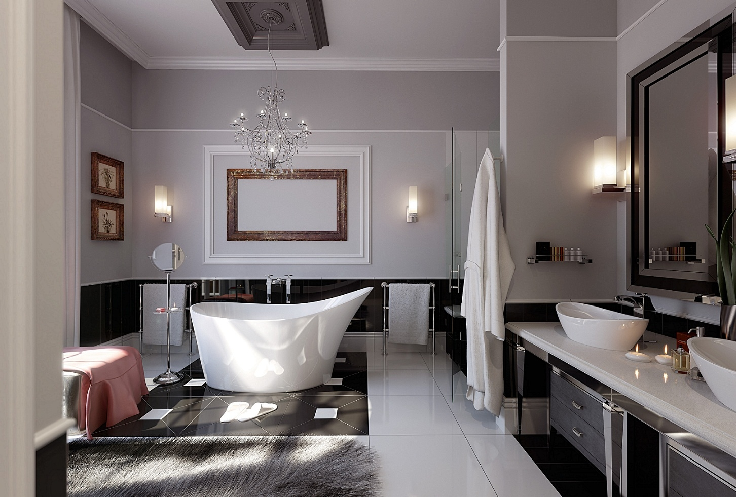 Bathroom Chandelier Modern Creative Bathroom Decoration For Modern Bathroom Chandeliers (View 3 of 15)