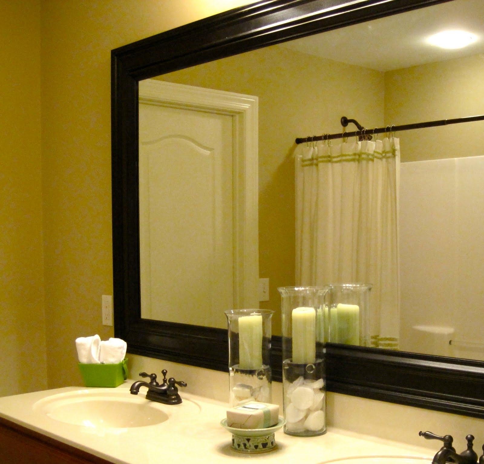 Bathroom Elegant Bathroom Decor With Large Framed Bathroom Within Venetian Bathroom Mirror (Image 4 of 15)