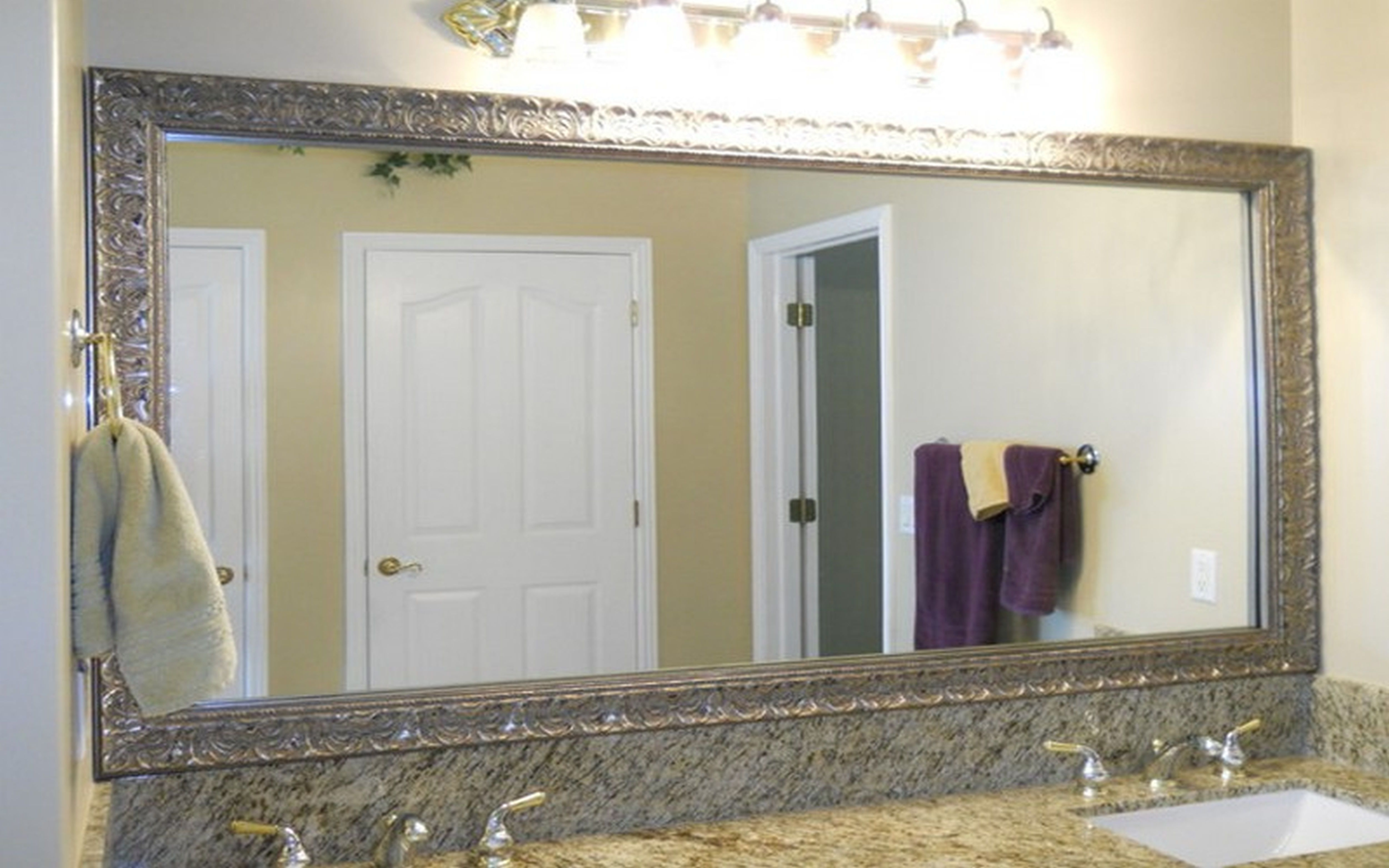 Bathroom Furniture Bathroom Tilting Bathroom Mirror And Tile And Within Cream Wall Mirror (Image 4 of 15)