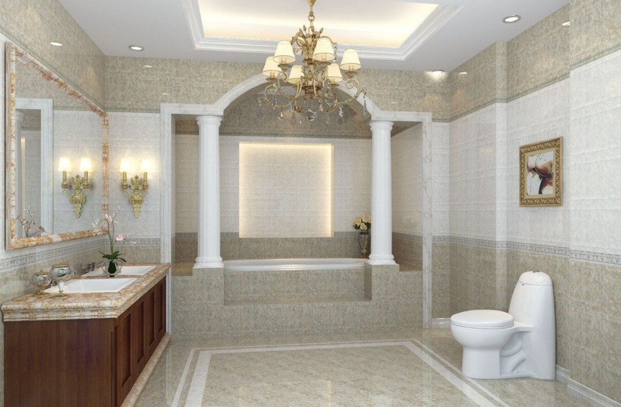 Bathroom Ideas Bathroom Chandeliers With Round White Crystal Inside Chandeliers For Bathrooms (Image 9 of 15)