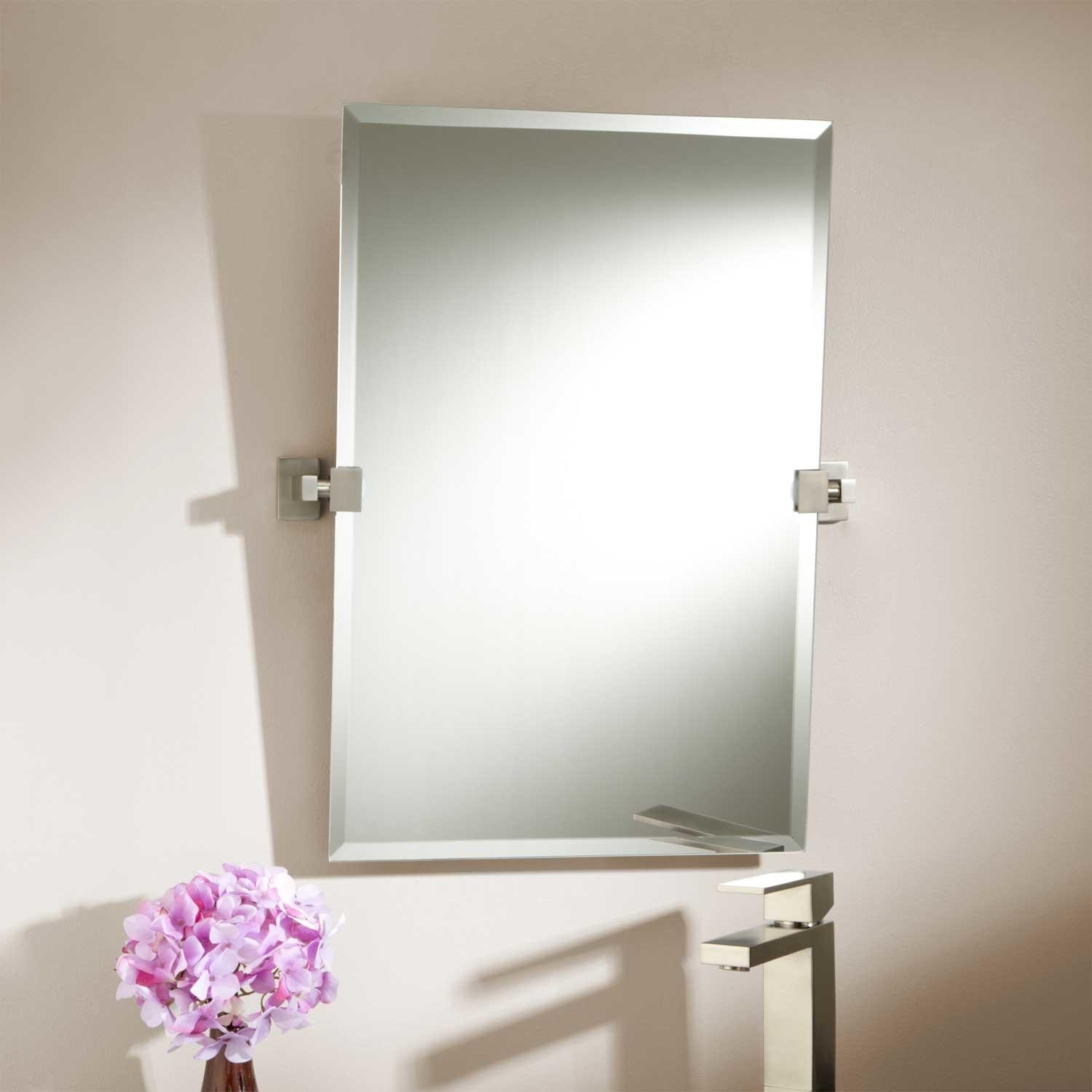 Bathroom Ideas Mirror With Square And Silver Rectangular