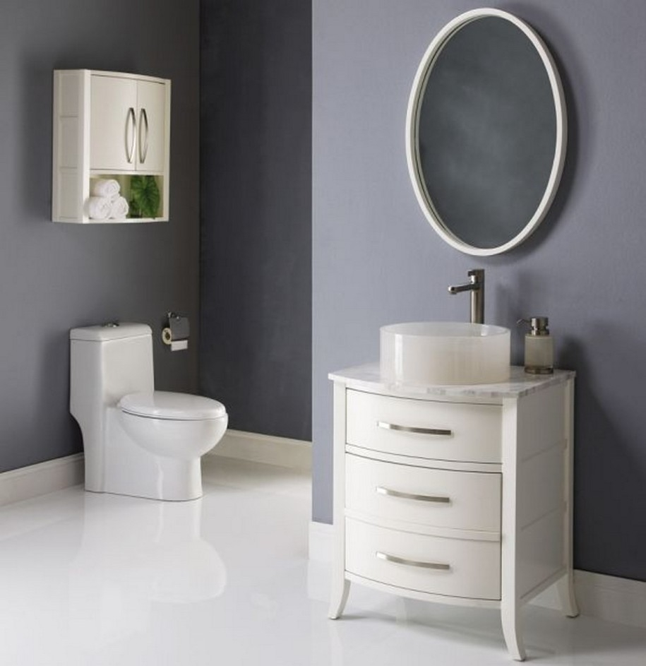 Bathroom Ideas Double White Framed Cheap Oval Bathroom Mirrors Intended For White Oval Bathroom Mirror (Image 2 of 15)