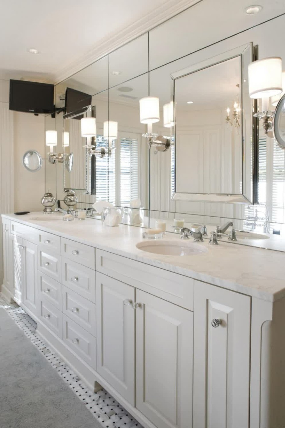 Bathroom Ideas Modern Bathroom Wall Sconces With Large Frameless Pertaining To Frameless Large Mirrors (Image 2 of 15)