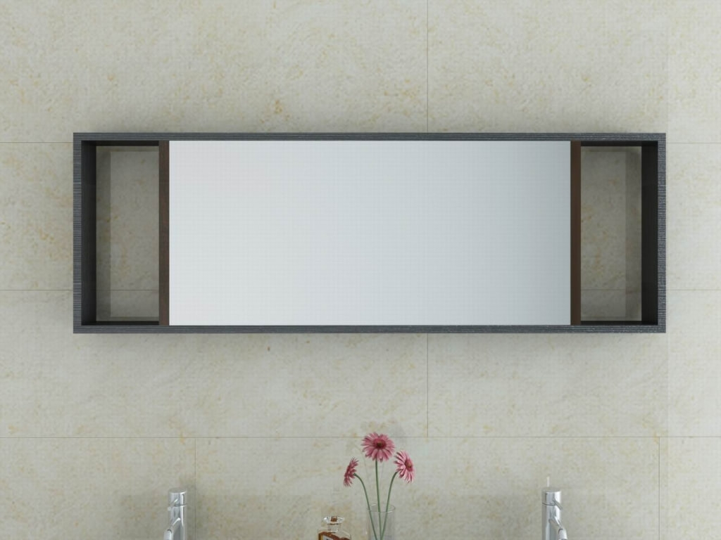 Bathroom Marvelous Wall Bathroom Mirror With Contemporary Wooden Pertaining To Modern Contemporary Wall Mirrors (Image 1 of 15)