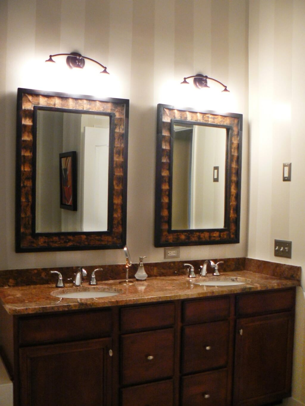 Bathroom Marvelous Wall Bathroom Mirror With Contemporary Wooden Within Rustic Oak Framed Mirrors (Image 2 of 15)