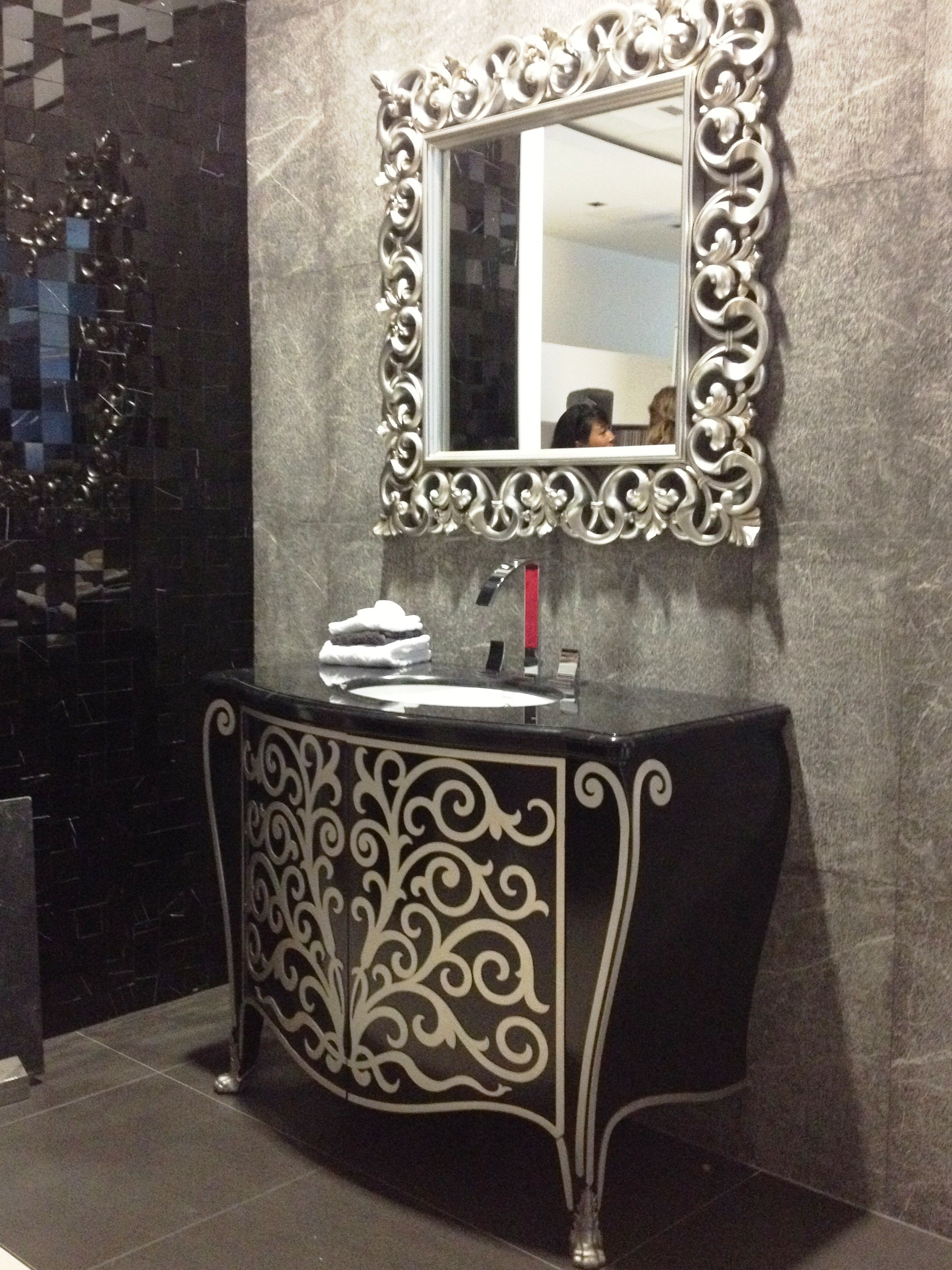 Bathroom Mirror With Lights Battery Operated Full Image For With Silver Bathroom Mirror Rectangular (Image 3 of 15)