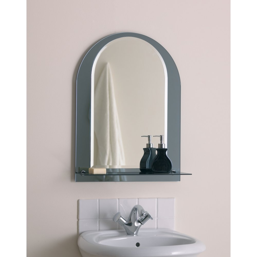 Bathroom Mirror With Shelf Bathroom Lighting Over Mirror Regarding Arched Mirrors Bathroom (Image 7 of 15)