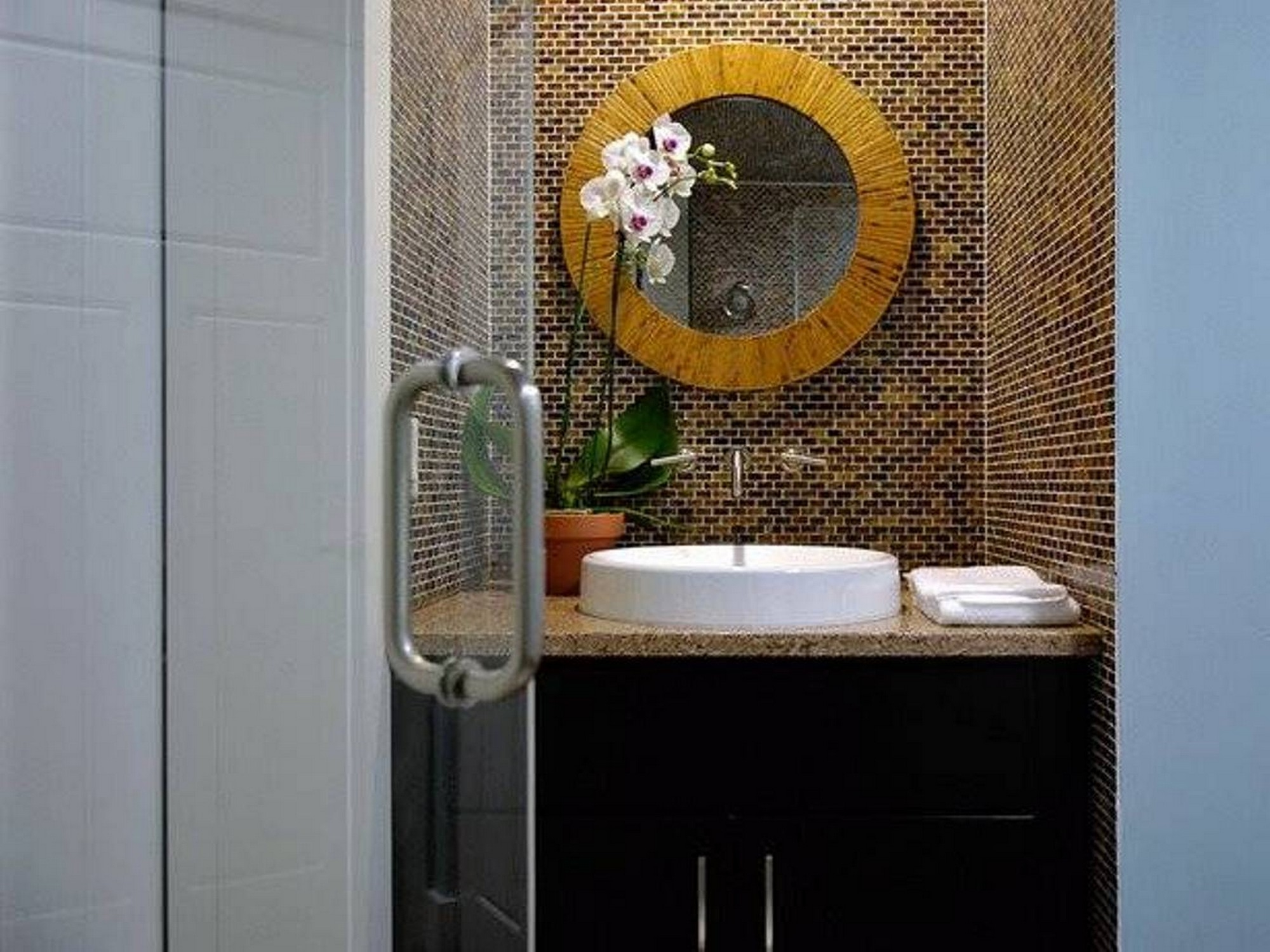 Bathroom Mirrors Ikea Frameless Wall Art Deco With Gorgeous Round Throughout Deco Bathroom Mirror (Image 9 of 15)