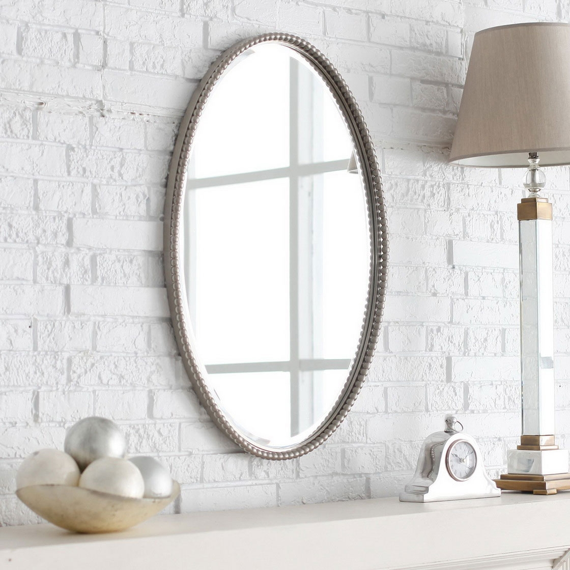 Bathroom Mirrors Luxury Bathroom Mirrors Oval Shape 12 In With Regarding Antique Bathroom Mirrors (Image 7 of 15)