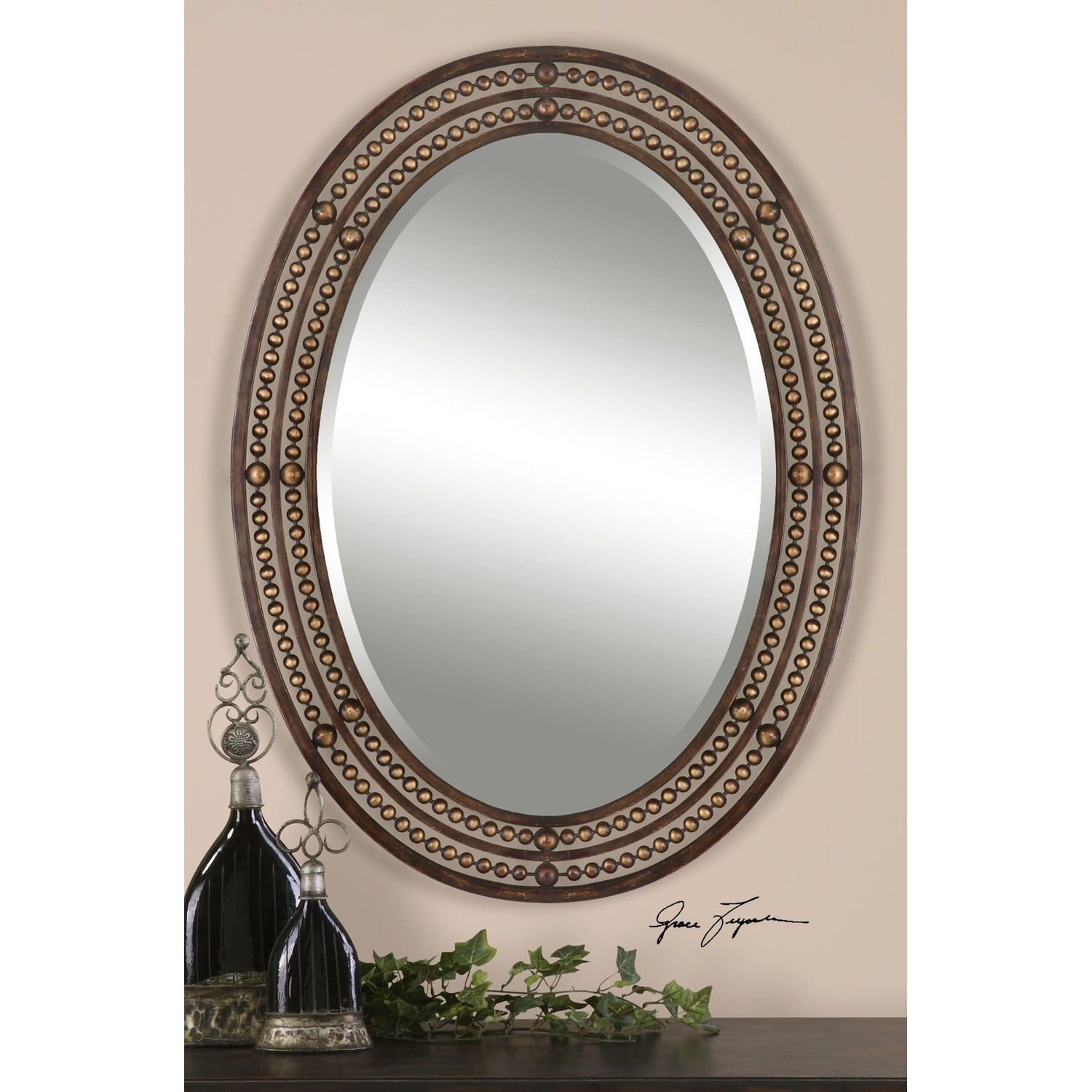 Bathroom Mirrors Oval With Frame Home In Oval Mirrors For Walls (Image 1 of 15)