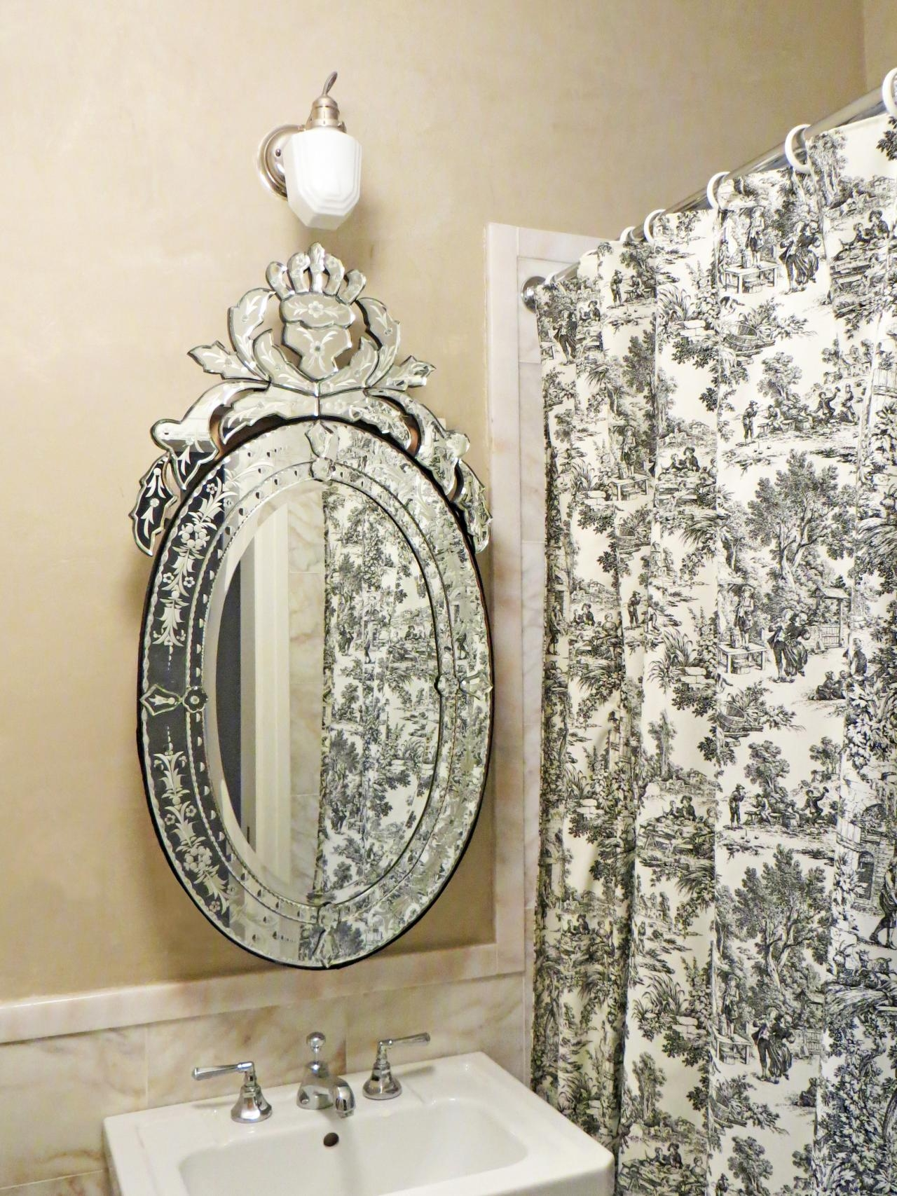 Bathroom Vanity Mirrors Lowes Oval Standing Mirror Oval Mirrors With Small Venetian Mirrors (Image 2 of 15)